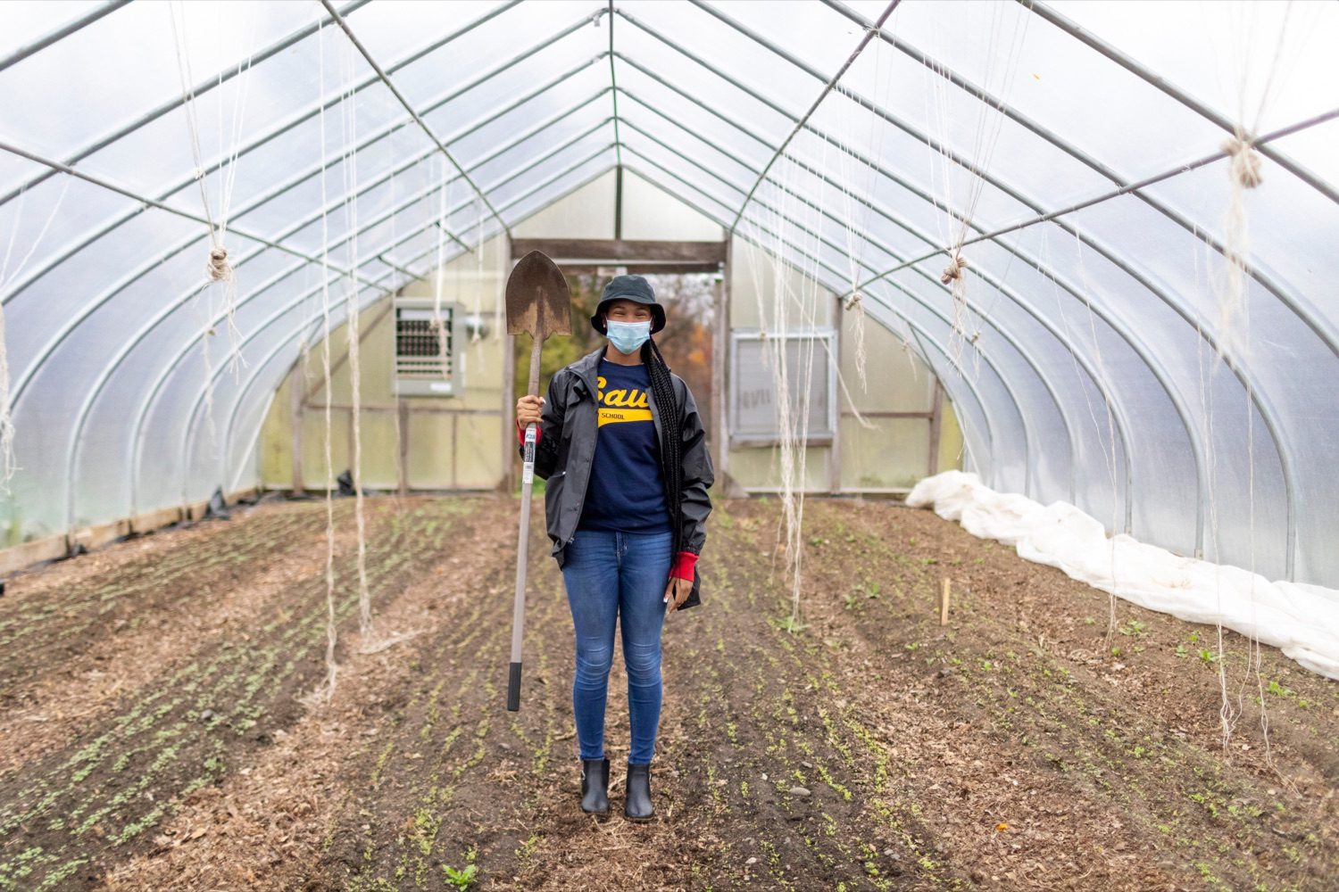 "<a href=""https://filesource.wostreaming.net/commonwealthofpa/photo/18324_AGRIC_Farm_Show_NK_017.jpg"" target=""_blank"">⇣ Download Photo<br></a>Asjah Thomas, 17, senior at W.B. Saul High School, works the soil at W.B. Saul High School in Philadelphia on Thursday, November 12, 2020."