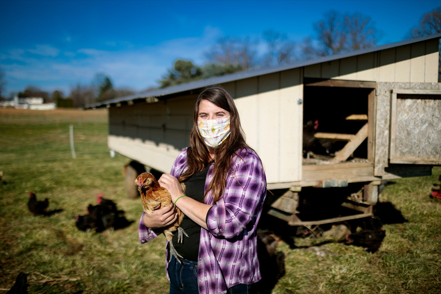 "<a href=""https://filesource.wostreaming.net/commonwealthofpa/photo/18325_AGRIC_Farm_Show_NK_013.jpg"" target=""_blank"">⇣ Download Photo<br></a>Liz Wagner, owner-operator of Crooked Row Farm, poses for a photo on the farm in Orefield on Friday, November 20, 2020."