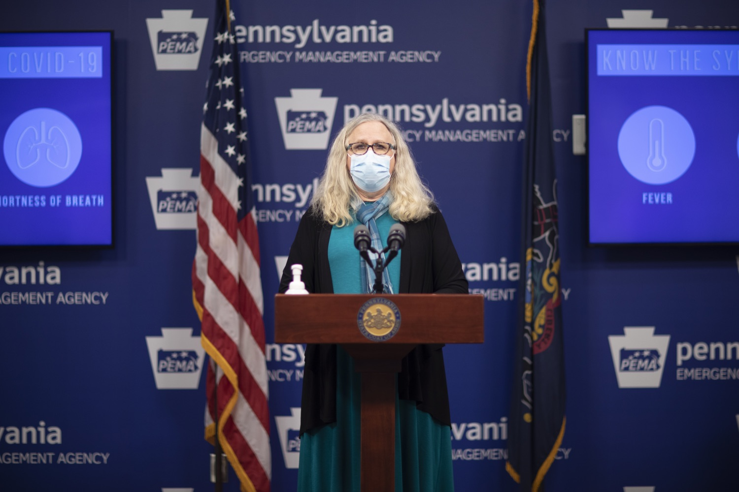 """<a href=""""https://filesource.wostreaming.net/commonwealthofpa/photo/18403_doh_covid_vaccinations_dz_001.JPG"""" target=""""_blank"""">⇣Download Photo<br></a>Pennsylvania Secretary of Health Dr. Levine speaking at todays virtual press conference. The Pennsylvania Department of Health today confirmed as of 12:00 a.m., November 19, that there were 7,126 additional positive cases of COVID-19, bringing the statewide total to 288,978. This is the highest daily increase of cases.  Harrisburg, PA - November 19, 2020"""