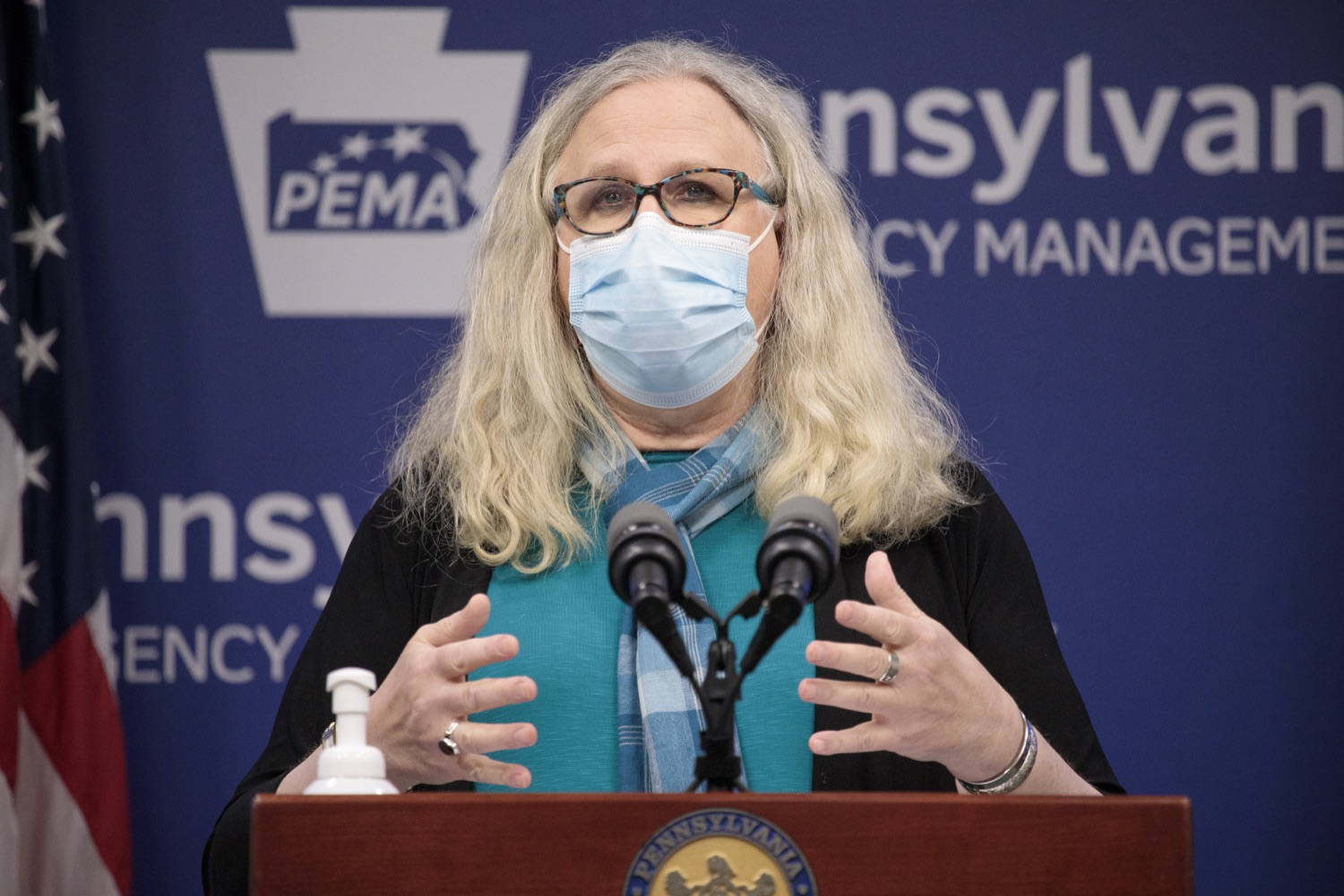 """<a href=""""https://filesource.wostreaming.net/commonwealthofpa/photo/18403_doh_covid_vaccinations_dz_006.JPG"""" target=""""_blank"""">⇣Download Photo<br></a>Pennsylvania Secretary of Health Dr. Levine speaking at todays virtual press conference. The Pennsylvania Department of Health today confirmed as of 12:00 a.m., November 19, that there were 7,126 additional positive cases of COVID-19, bringing the statewide total to 288,978. This is the highest daily increase of cases.  Harrisburg, PA - November 19, 2020"""