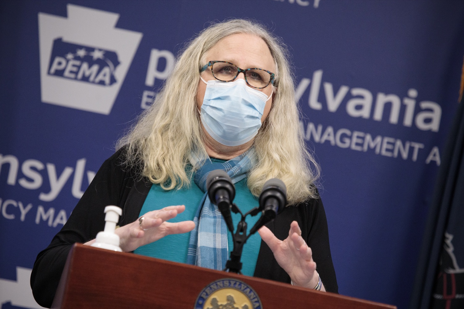 """<a href=""""https://filesource.wostreaming.net/commonwealthofpa/photo/18403_doh_covid_vaccinations_dz_007.JPG"""" target=""""_blank"""">⇣Download Photo<br></a>Pennsylvania Secretary of Health Dr. Levine speaking at todays virtual press conference. The Pennsylvania Department of Health today confirmed as of 12:00 a.m., November 19, that there were 7,126 additional positive cases of COVID-19, bringing the statewide total to 288,978. This is the highest daily increase of cases.  Harrisburg, PA - November 19, 2020"""