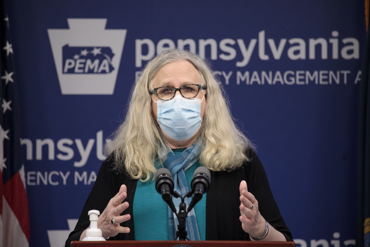 """<a href=""""https://filesource.wostreaming.net/commonwealthofpa/photo/18403_doh_covid_vaccinations_dz_011.JPG"""" target=""""_blank"""">⇣Download Photo<br></a>Pennsylvania Secretary of Health Dr. Levine speaking at todays virtual press conference. The Pennsylvania Department of Health today confirmed as of 12:00 a.m., November 19, that there were 7,126 additional positive cases of COVID-19, bringing the statewide total to 288,978. This is the highest daily increase of cases.  Harrisburg, PA - November 19, 2020"""