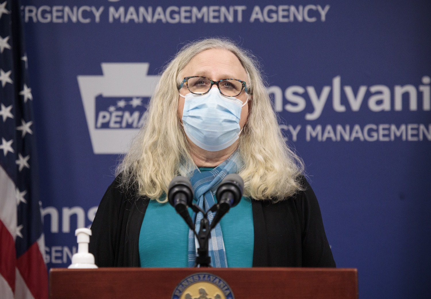 """<a href=""""https://filesource.wostreaming.net/commonwealthofpa/photo/18403_doh_covid_vaccinations_dz_014.JPG"""" target=""""_blank"""">⇣Download Photo<br></a>Pennsylvania Secretary of Health Dr. Levine speaking at todays virtual press conference. The Pennsylvania Department of Health today confirmed as of 12:00 a.m., November 19, that there were 7,126 additional positive cases of COVID-19, bringing the statewide total to 288,978. This is the highest daily increase of cases.  Harrisburg, PA - November 19, 2020"""