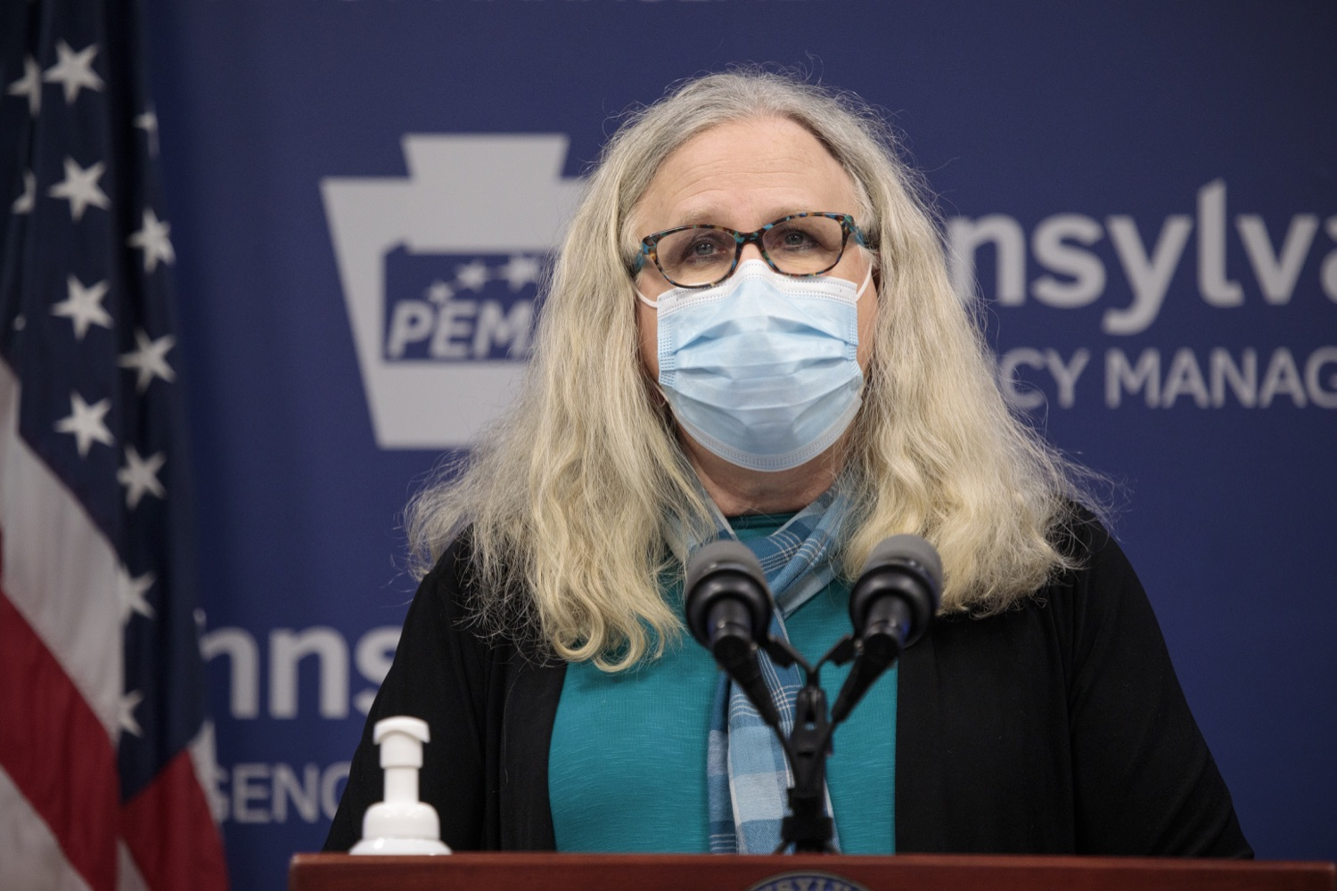"""<a href=""""https://filesource.wostreaming.net/commonwealthofpa/photo/18403_doh_covid_vaccinations_dz_015.JPG"""" target=""""_blank"""">⇣Download Photo<br></a>Pennsylvania Secretary of Health Dr. Levine speaking at todays virtual press conference. The Pennsylvania Department of Health today confirmed as of 12:00 a.m., November 19, that there were 7,126 additional positive cases of COVID-19, bringing the statewide total to 288,978. This is the highest daily increase of cases.  Harrisburg, PA - November 19, 2020"""