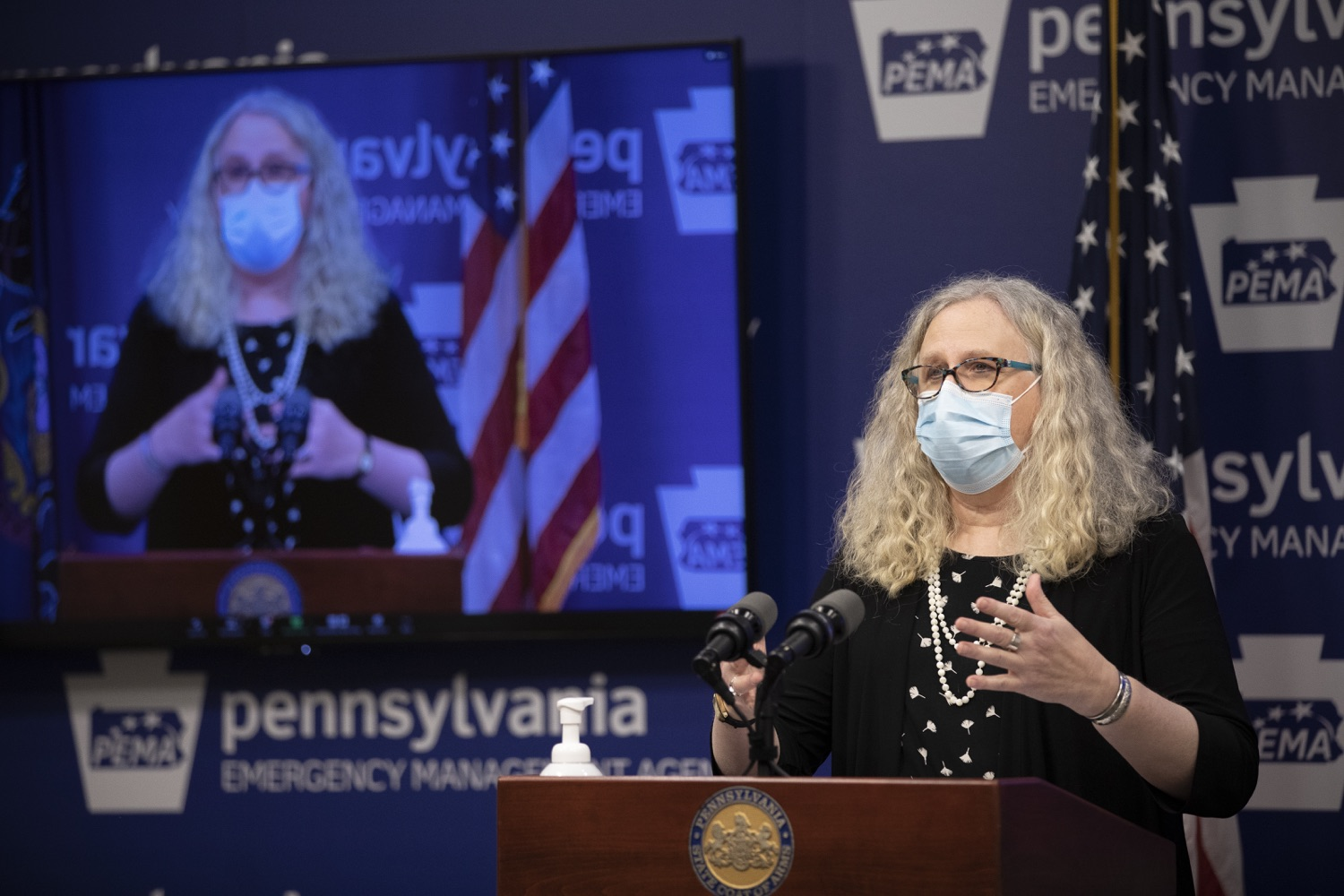 """<a href=""""https://filesource.wostreaming.net/commonwealthofpa/photo/18415_doh_covidUpdate_dz_002.JPG"""" target=""""_blank"""">⇣Download Photo<br></a>Department of Health Secretary Dr. Rachel Levine speaking at the virtual press conference.  Secretary of Health Dr. Rachel Levine and Acting Secretary of Education Noe Ortega today announced that, with parental or guardian permission, Pennsylvanians age 13 to 17 can now add their phone to the fight and download the COVID Alert PA app to help stop the spread of COVID-19.  Harrisburg, PA  November 30, 2020"""