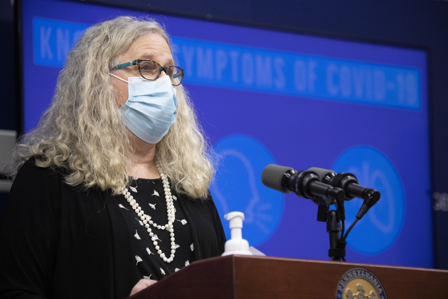 """<a href=""""https://filesource.wostreaming.net/commonwealthofpa/photo/18415_doh_covidUpdate_dz_007.JPG"""" target=""""_blank"""">⇣Download Photo<br></a>Department of Health Secretary Dr. Rachel Levine speaking at the virtual press conference.  Secretary of Health Dr. Rachel Levine and Acting Secretary of Education Noe Ortega today announced that, with parental or guardian permission, Pennsylvanians age 13 to 17 can now add their phone to the fight and download the COVID Alert PA app to help stop the spread of COVID-19.  Harrisburg, PA  November 30, 2020"""