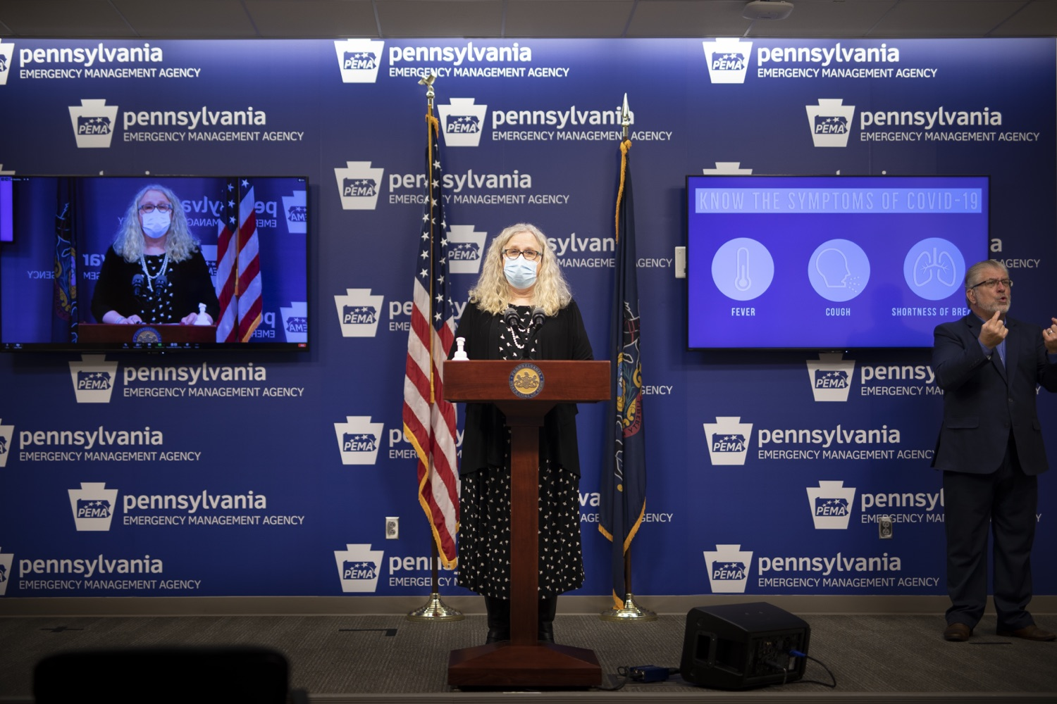 """<a href=""""https://filesource.wostreaming.net/commonwealthofpa/photo/18415_doh_covidUpdate_dz_010.JPG"""" target=""""_blank"""">⇣Download Photo<br></a>Department of Health Secretary Dr. Rachel Levine speaking at the virtual press conference.  Secretary of Health Dr. Rachel Levine and Acting Secretary of Education Noe Ortega today announced that, with parental or guardian permission, Pennsylvanians age 13 to 17 can now add their phone to the fight and download the COVID Alert PA app to help stop the spread of COVID-19.  Harrisburg, PA  November 30, 2020"""