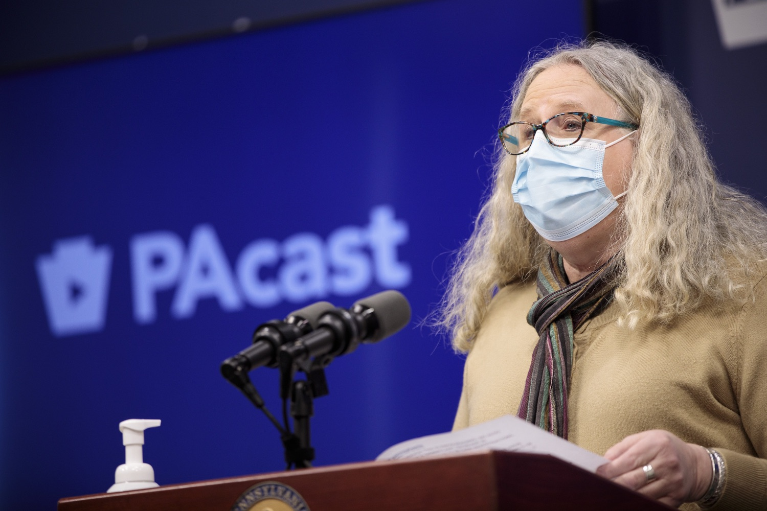 """<a href=""""https://filesource.wostreaming.net/commonwealthofpa/photo/18461_doh_covidUpdate_dz_02.jpg"""" target=""""_blank"""">⇣Download Photo<br></a>Department of Health Secretary Dr. Rachel Levine speaks at the virtual media briefing.  The Pennsylvania Department of Health today confirmed as of 12:00 a.m., January 4, that there were 3,226 additional positive cases of COVID-19, in addition to 4,579 new cases reported Sunday, January 3 for a two-day total of 8,992 additional positive cases of COVID-19, bringing the statewide total to 665,097. The case counts today are atypically low as a result of technical maintenance to the data server on Sunday. This technical maintenance did not impact the death reporting system on Sunday or Monday as the death data comes from a different server. Harrisburg, PA  January 04, 2021"""