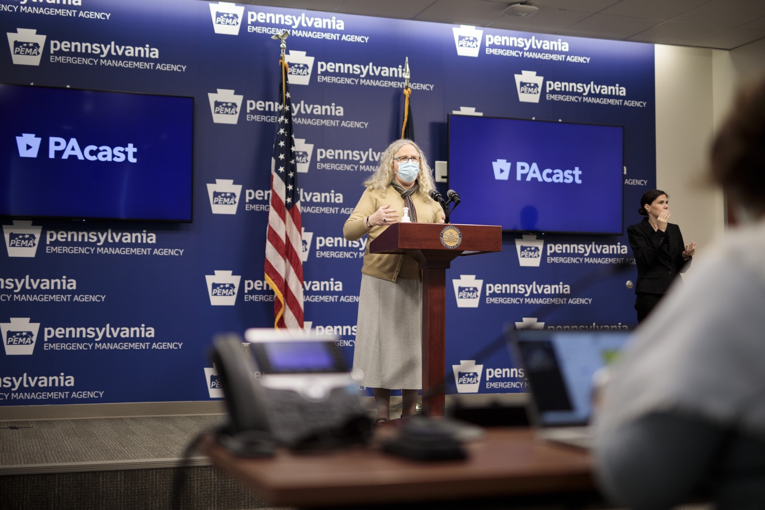 """<a href=""""https://filesource.wostreaming.net/commonwealthofpa/photo/18461_doh_covidUpdate_dz_04.jpg"""" target=""""_blank"""">⇣Download Photo<br></a>Department of Health Secretary Dr. Rachel Levine speaks at the virtual media briefing.  The Pennsylvania Department of Health today confirmed as of 12:00 a.m., January 4, that there were 3,226 additional positive cases of COVID-19, in addition to 4,579 new cases reported Sunday, January 3 for a two-day total of 8,992 additional positive cases of COVID-19, bringing the statewide total to 665,097. The case counts today are atypically low as a result of technical maintenance to the data server on Sunday. This technical maintenance did not impact the death reporting system on Sunday or Monday as the death data comes from a different server. Harrisburg, PA  January 04, 2021"""