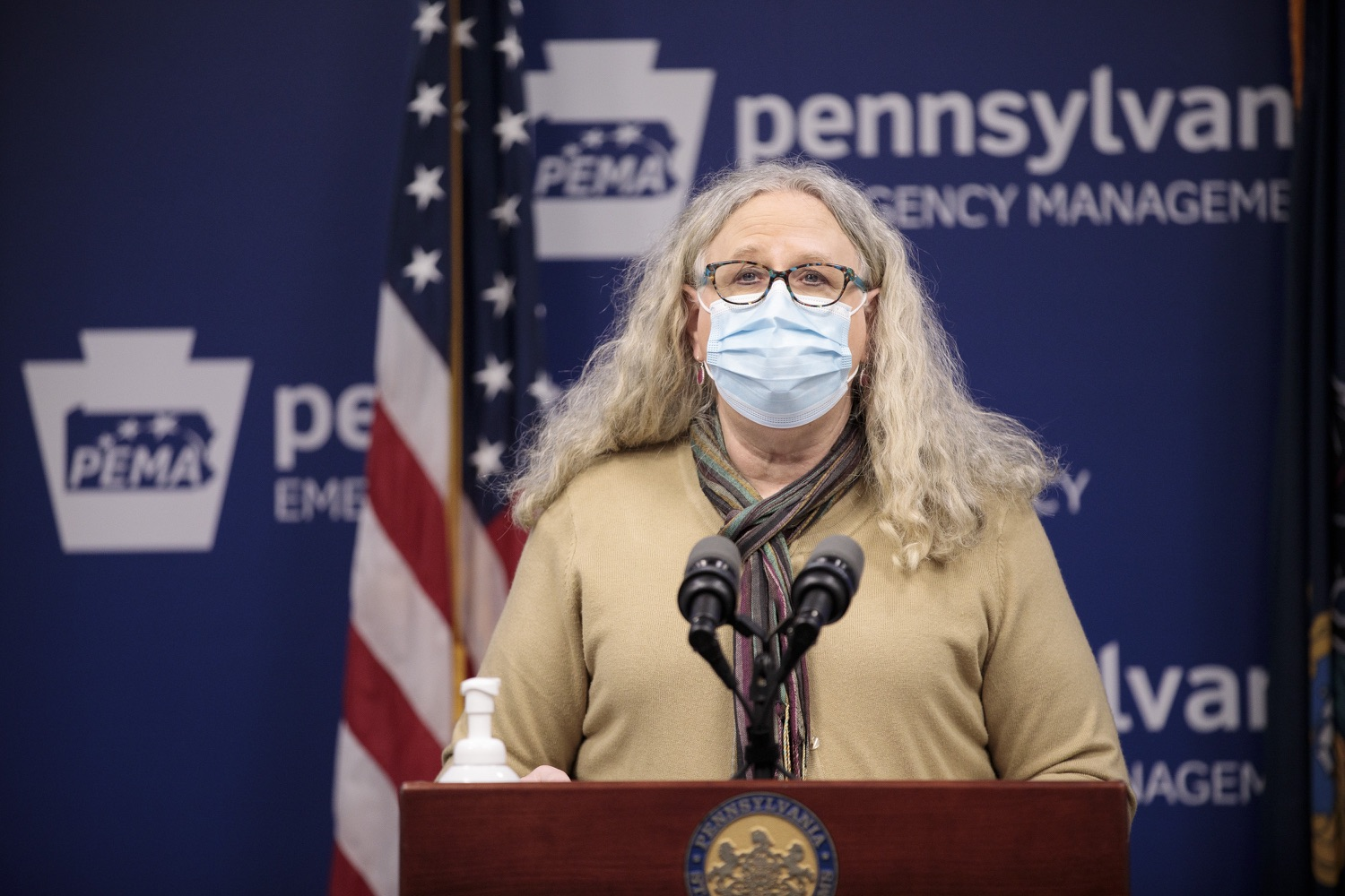 """<a href=""""https://filesource.wostreaming.net/commonwealthofpa/photo/18461_doh_covidUpdate_dz_07.jpg"""" target=""""_blank"""">⇣Download Photo<br></a>Department of Health Secretary Dr. Rachel Levine speaks at the virtual media briefing.  The Pennsylvania Department of Health today confirmed as of 12:00 a.m., January 4, that there were 3,226 additional positive cases of COVID-19, in addition to 4,579 new cases reported Sunday, January 3 for a two-day total of 8,992 additional positive cases of COVID-19, bringing the statewide total to 665,097. The case counts today are atypically low as a result of technical maintenance to the data server on Sunday. This technical maintenance did not impact the death reporting system on Sunday or Monday as the death data comes from a different server. Harrisburg, PA  January 04, 2021"""
