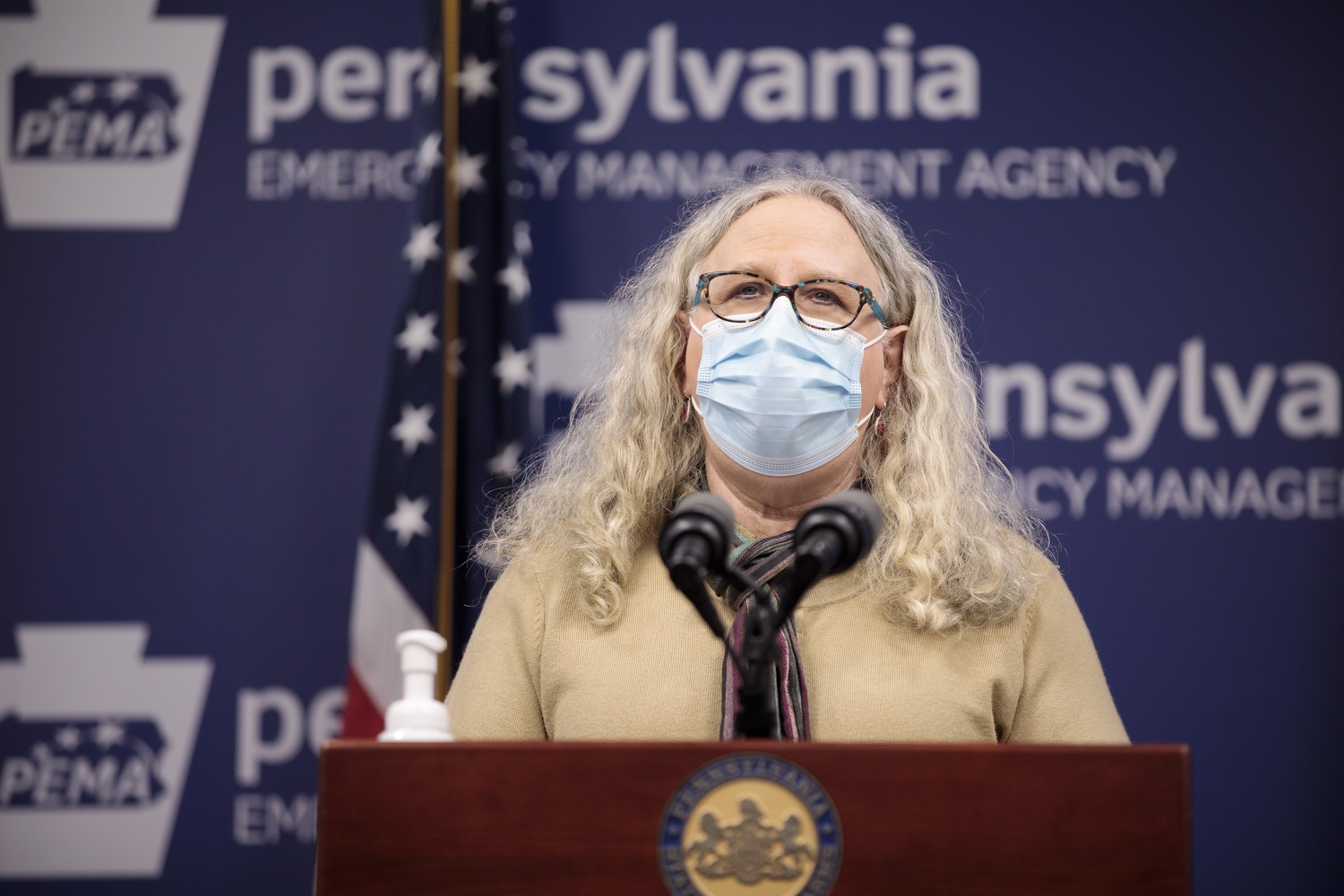 """<a href=""""https://filesource.wostreaming.net/commonwealthofpa/photo/18461_doh_covidUpdate_dz_11.jpg"""" target=""""_blank"""">⇣Download Photo<br></a>Department of Health Secretary Dr. Rachel Levine speaks at the virtual media briefing.  The Pennsylvania Department of Health today confirmed as of 12:00 a.m., January 4, that there were 3,226 additional positive cases of COVID-19, in addition to 4,579 new cases reported Sunday, January 3 for a two-day total of 8,992 additional positive cases of COVID-19, bringing the statewide total to 665,097. The case counts today are atypically low as a result of technical maintenance to the data server on Sunday. This technical maintenance did not impact the death reporting system on Sunday or Monday as the death data comes from a different server. Harrisburg, PA  January 04, 2021"""