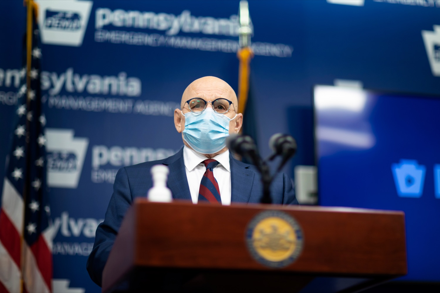 """<a href=""""https://filesource.wostreaming.net/commonwealthofpa/photo/18464_DOH_Contact_Tracing_NK_001.jpg"""" target=""""_blank"""">⇣Download Photo<br></a>Pennsylvania Testing and Contact Tracing Director Michael Huff speaks during a press conference, which discussed contact tracing efforts, inside Pennsylvania Emergency Management Agency (PEMA) on Tuesday, January 5, 2021."""