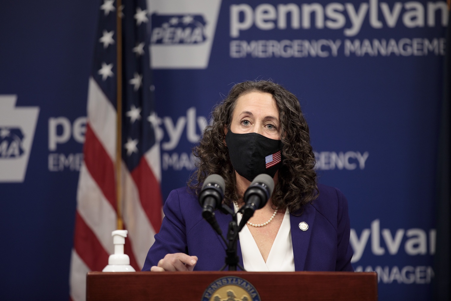 """<a href=""""https://filesource.wostreaming.net/commonwealthofpa/photo/18465_gov_electoralCollege_dz_10.jpg"""" target=""""_blank"""">⇣Download Photo<br></a>Secretary of the Commonwealth of Pennsylvania Kathy Boockvar speaking at the press conference.  With Congress preparing to count Electoral College votes today, Governor Tom Wolf was joined by Secretary of State Kathy Boockvar and Philadelphia City Commissioner Al Schmidt to emphasize that Pennsylvania had a free, fair and secure election. All efforts by Congressional Republicans to overthrow the election results and subvert the will of the voters are disgraceful and must be rejected. Harrisburg, PA  January 6, 2021"""