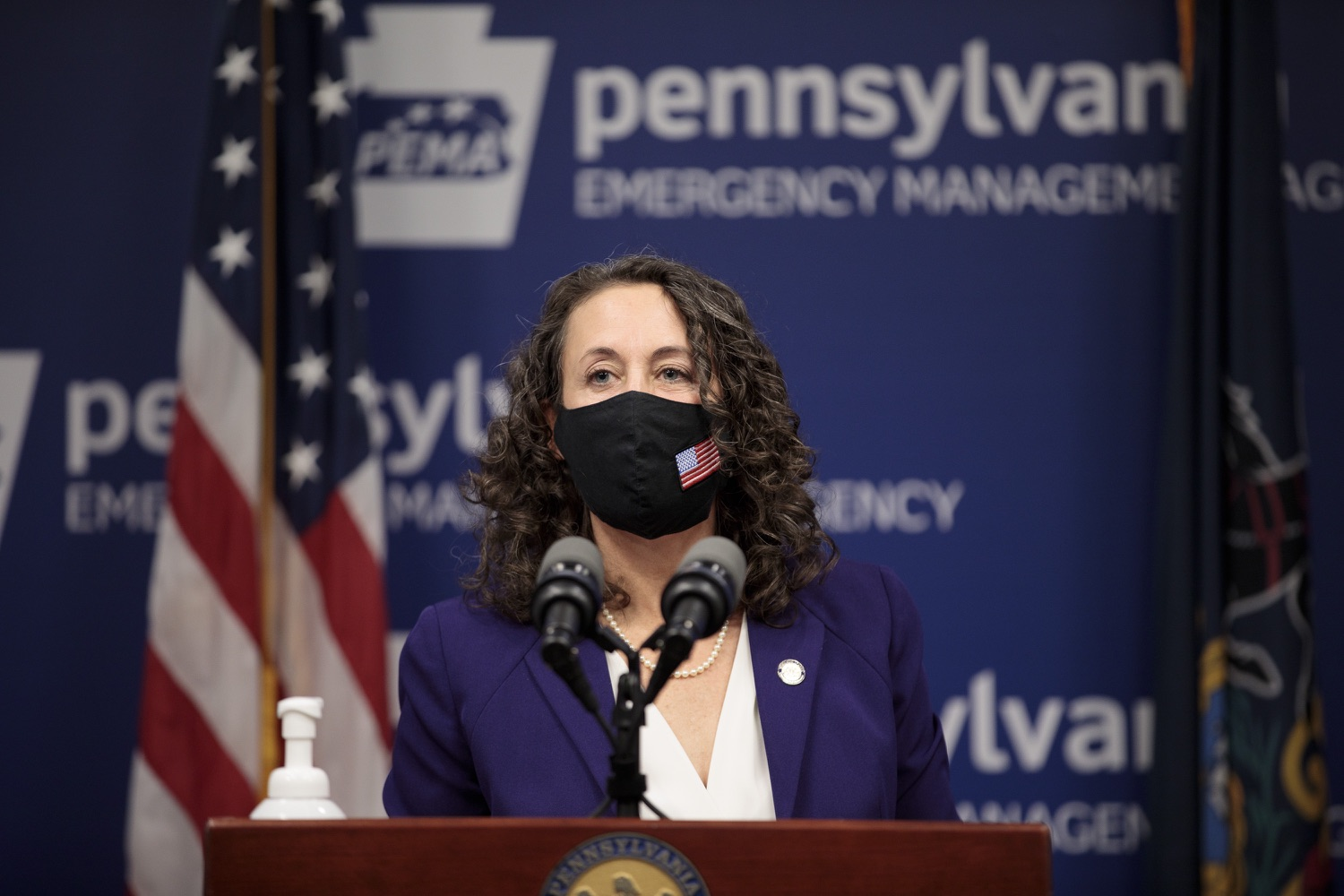 """<a href=""""https://filesource.wostreaming.net/commonwealthofpa/photo/18465_gov_electoralCollege_dz_15.jpg"""" target=""""_blank"""">⇣Download Photo<br></a>Secretary of the Commonwealth of Pennsylvania Kathy Boockvar speaking at the press conference.  With Congress preparing to count Electoral College votes today, Governor Tom Wolf was joined by Secretary of State Kathy Boockvar and Philadelphia City Commissioner Al Schmidt to emphasize that Pennsylvania had a free, fair and secure election. All efforts by Congressional Republicans to overthrow the election results and subvert the will of the voters are disgraceful and must be rejected. Harrisburg, PA  January 6, 2021"""
