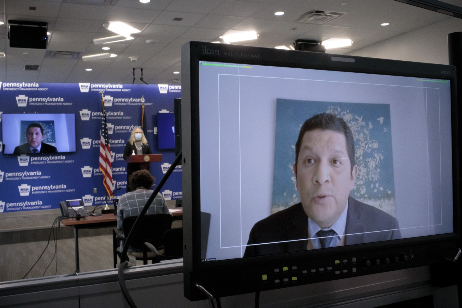"<a href=""https://filesource.wostreaming.net/commonwealthofpa/photo/18471_doh_COVID_19_eduction_dz_05.jpg"" target=""_blank"">⇣ Download Photo<br></a>Department of Education Acting Secretary Noe Ortega speaks virtually at todays press event.  The Pennsylvania departments of Health (DOH) and Education (PDE) today provided school administrators and school boards with updated recommendations as to which instructional models they should consider using based on the changing levels of community transmission of COVID-19 in their counties. Harrisburg, Pa. - January 7, 2021"