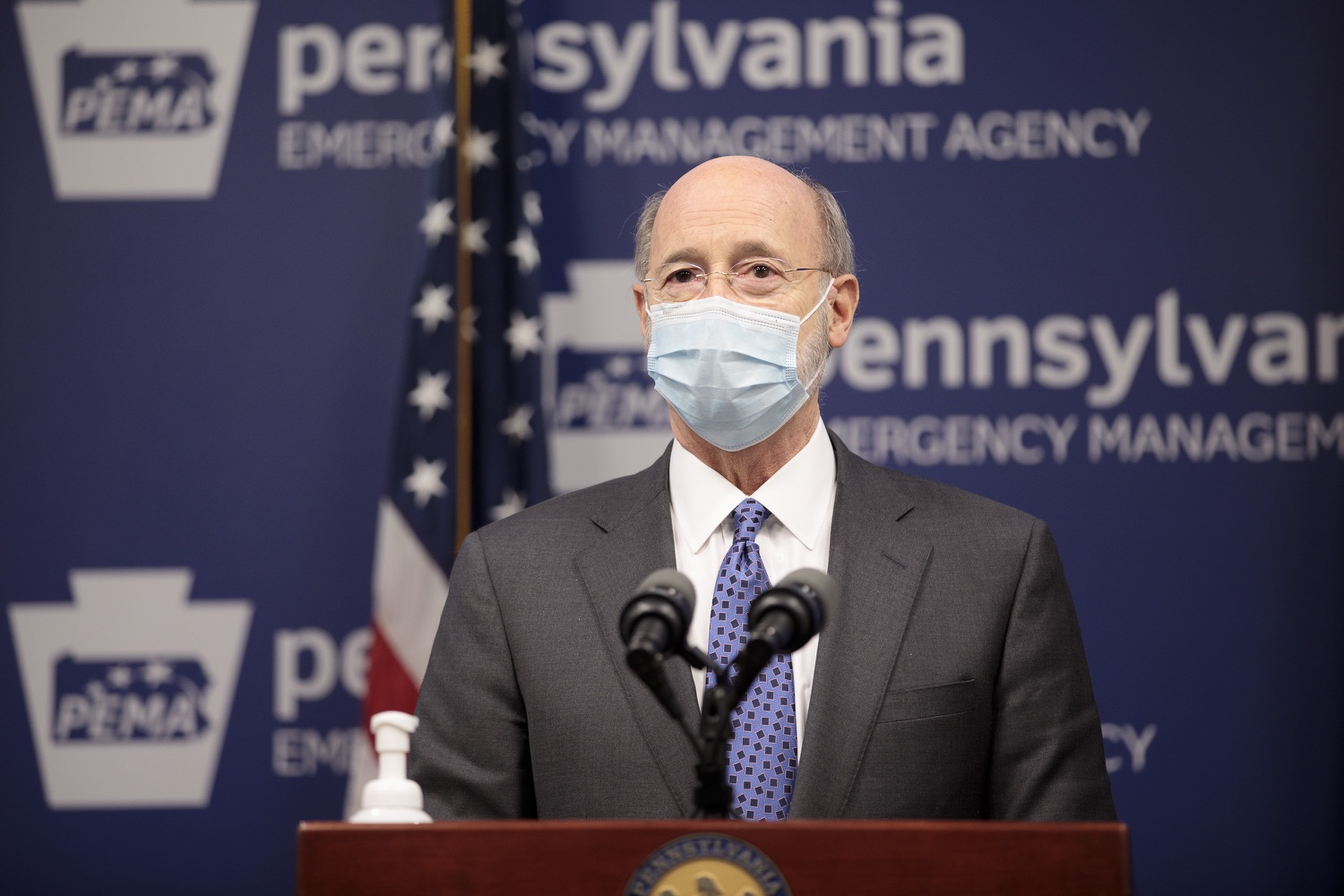 "<a href=""https://filesource.wostreaming.net/commonwealthofpa/photo/18472_gov_vaccine_dz_10.jpg"" target=""_blank"">⇣ Download Photo<br></a>Pennsylvania Governor Tom Wolf speaks at the press conference.  The commonwealths COVID-19 vaccination distribution plan was designed to be fluid and flexible to meet guidance and recommendations from the federal government. Today, Governor Tom Wolf and Secretary of Health Dr. Rachel Levine announced the fourth version of the plan, detailing the updates and how the state is working to ensure safe, swift implementation. Harrisburg, PA  January 8, 2021"
