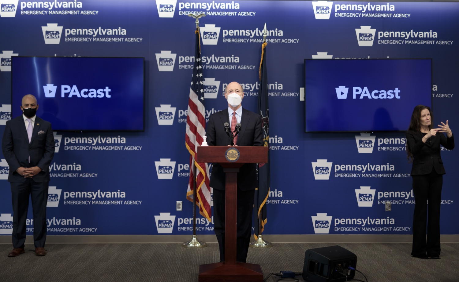 "<a href=""https://filesource.wostreaming.net/commonwealthofpa/photo/18512_gov_education_dz_02.jpg"" target=""_blank"">⇣ Download Photo<br></a>Pennsylvania Governor Tom Wolf answers questions from the press.  Continuing to make the future of Pennsylvanias students a priority, Governor Tom Wolfs 2021 agenda makes a historic $1.3 billion investment in public schools and creates fairness in education funding, while cutting taxes for working families and businesses. Harrisburg, PA  February 4, 2021"