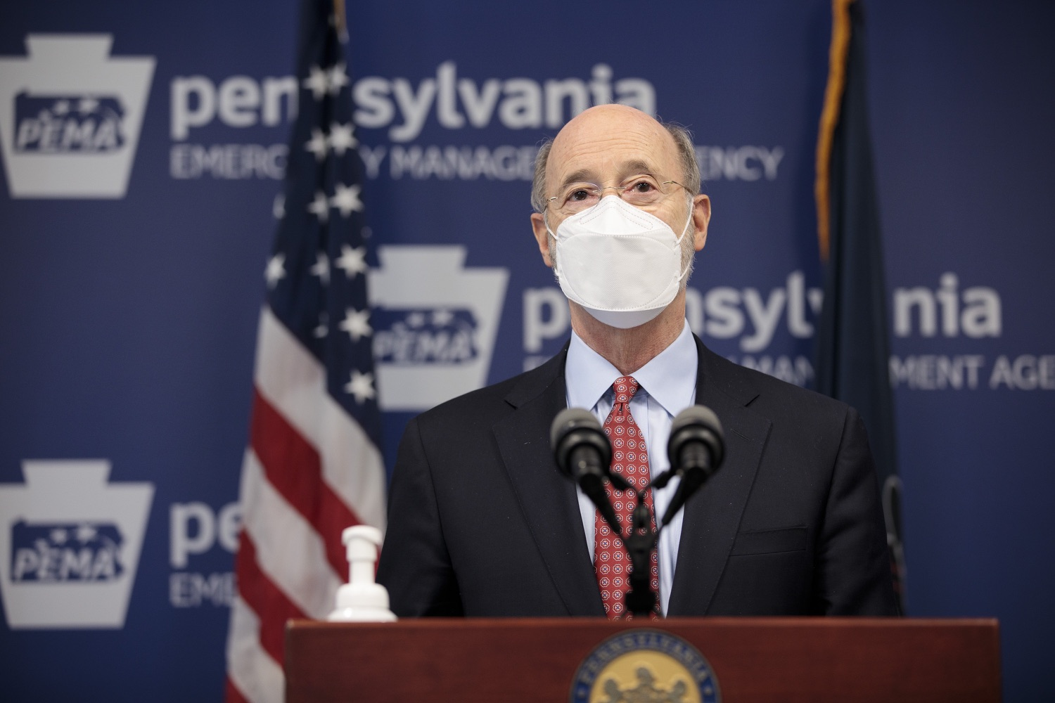 "<a href=""https://filesource.wostreaming.net/commonwealthofpa/photo/18512_gov_education_dz_04.jpg"" target=""_blank"">⇣ Download Photo<br></a>Pennsylvania Governor Tom Wolf answers questions from the press.  Continuing to make the future of Pennsylvanias students a priority, Governor Tom Wolfs 2021 agenda makes a historic $1.3 billion investment in public schools and creates fairness in education funding, while cutting taxes for working families and businesses. Harrisburg, PA  February 4, 2021"