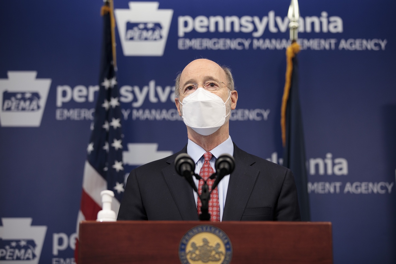 "<a href=""https://filesource.wostreaming.net/commonwealthofpa/photo/18512_gov_education_dz_07.jpg"" target=""_blank"">⇣ Download Photo<br></a>Pennsylvania Governor Tom Wolf answers questions from the press.  Continuing to make the future of Pennsylvanias students a priority, Governor Tom Wolfs 2021 agenda makes a historic $1.3 billion investment in public schools and creates fairness in education funding, while cutting taxes for working families and businesses. Harrisburg, PA  February 4, 2021"