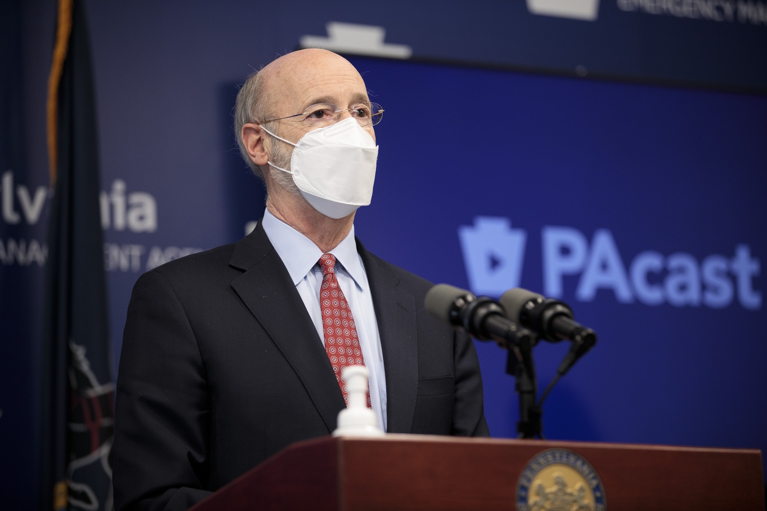"<a href=""https://filesource.wostreaming.net/commonwealthofpa/photo/18512_gov_education_dz_08.jpg"" target=""_blank"">⇣ Download Photo<br></a>Pennsylvania Governor Tom Wolf answers questions from the press.  Continuing to make the future of Pennsylvanias students a priority, Governor Tom Wolfs 2021 agenda makes a historic $1.3 billion investment in public schools and creates fairness in education funding, while cutting taxes for working families and businesses. Harrisburg, PA  February 4, 2021"