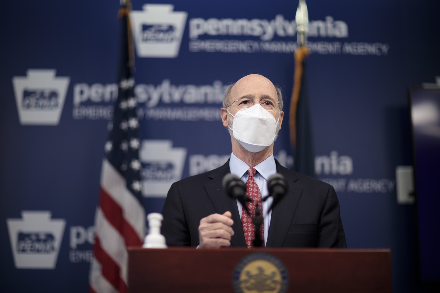 "<a href=""https://filesource.wostreaming.net/commonwealthofpa/photo/18512_gov_education_dz_10.jpg"" target=""_blank"">⇣ Download Photo<br></a>Pennsylvania Governor Tom Wolf answers questions from the press.  Continuing to make the future of Pennsylvanias students a priority, Governor Tom Wolfs 2021 agenda makes a historic $1.3 billion investment in public schools and creates fairness in education funding, while cutting taxes for working families and businesses. Harrisburg, PA  February 4, 2021"