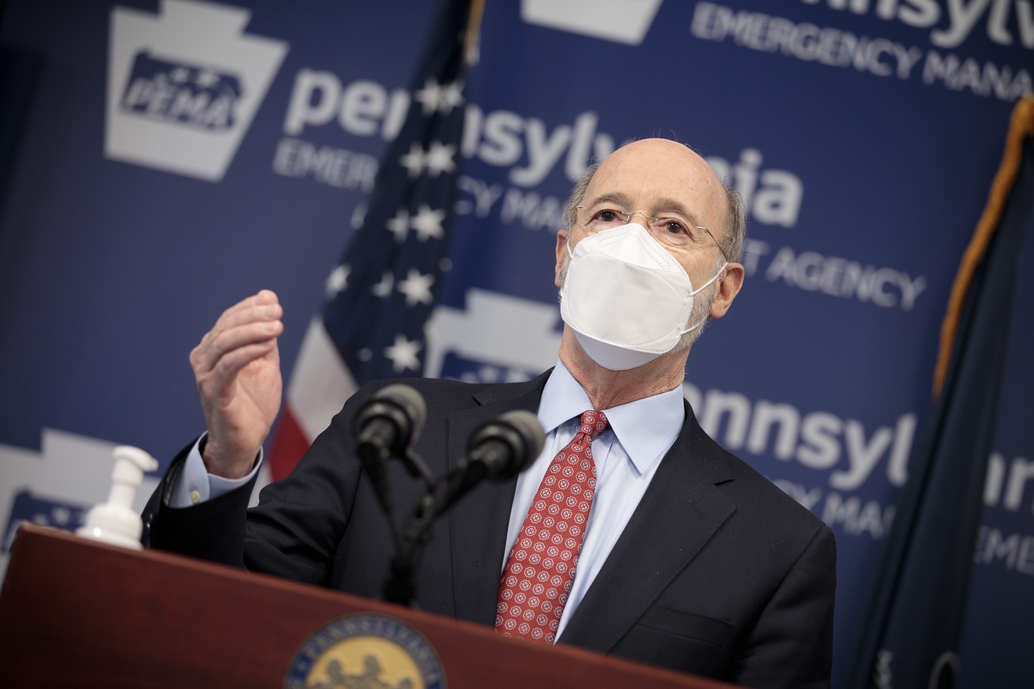 "<a href=""https://filesource.wostreaming.net/commonwealthofpa/photo/18512_gov_education_dz_11.jpg"" target=""_blank"">⇣ Download Photo<br></a>Pennsylvania Governor Tom Wolf answers questions from the press.  Continuing to make the future of Pennsylvanias students a priority, Governor Tom Wolfs 2021 agenda makes a historic $1.3 billion investment in public schools and creates fairness in education funding, while cutting taxes for working families and businesses. Harrisburg, PA  February 4, 2021"