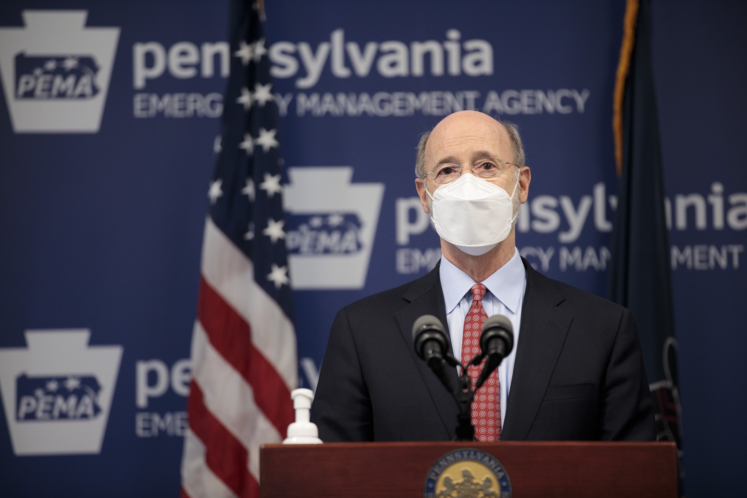 "<a href=""https://filesource.wostreaming.net/commonwealthofpa/photo/18512_gov_education_dz_14.jpg"" target=""_blank"">⇣ Download Photo<br></a>Pennsylvania Governor Tom Wolf answers questions from the press.  Continuing to make the future of Pennsylvanias students a priority, Governor Tom Wolfs 2021 agenda makes a historic $1.3 billion investment in public schools and creates fairness in education funding, while cutting taxes for working families and businesses. Harrisburg, PA  February 4, 2021"