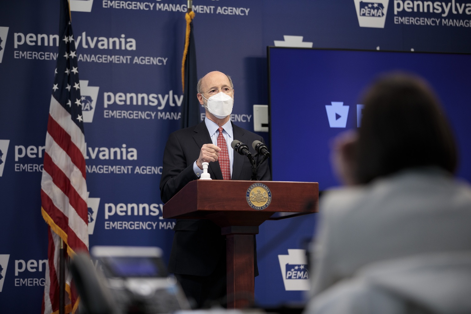 "<a href=""https://filesource.wostreaming.net/commonwealthofpa/photo/18512_gov_education_dz_15.jpg"" target=""_blank"">⇣ Download Photo<br></a>Pennsylvania Governor Tom Wolf answers questions from the press.  Continuing to make the future of Pennsylvanias students a priority, Governor Tom Wolfs 2021 agenda makes a historic $1.3 billion investment in public schools and creates fairness in education funding, while cutting taxes for working families and businesses. Harrisburg, PA  February 4, 2021"