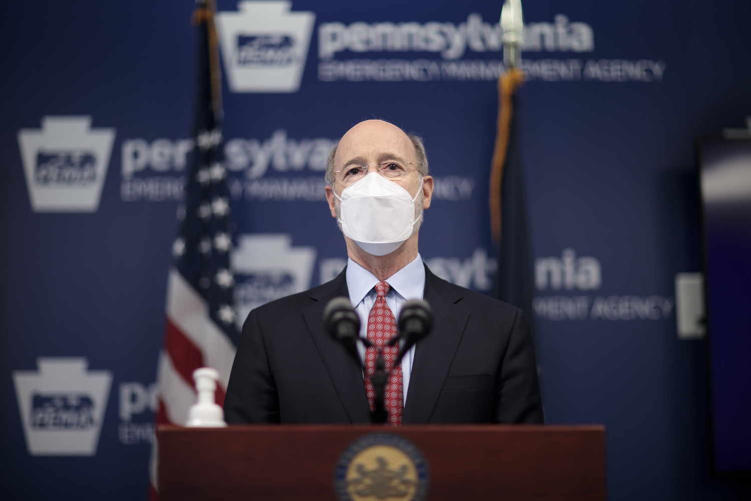 "<a href=""https://filesource.wostreaming.net/commonwealthofpa/photo/18512_gov_education_dz_16.jpg"" target=""_blank"">⇣ Download Photo<br></a>Pennsylvania Governor Tom Wolf answers questions from the press.  Continuing to make the future of Pennsylvanias students a priority, Governor Tom Wolfs 2021 agenda makes a historic $1.3 billion investment in public schools and creates fairness in education funding, while cutting taxes for working families and businesses. Harrisburg, PA  February 4, 2021"