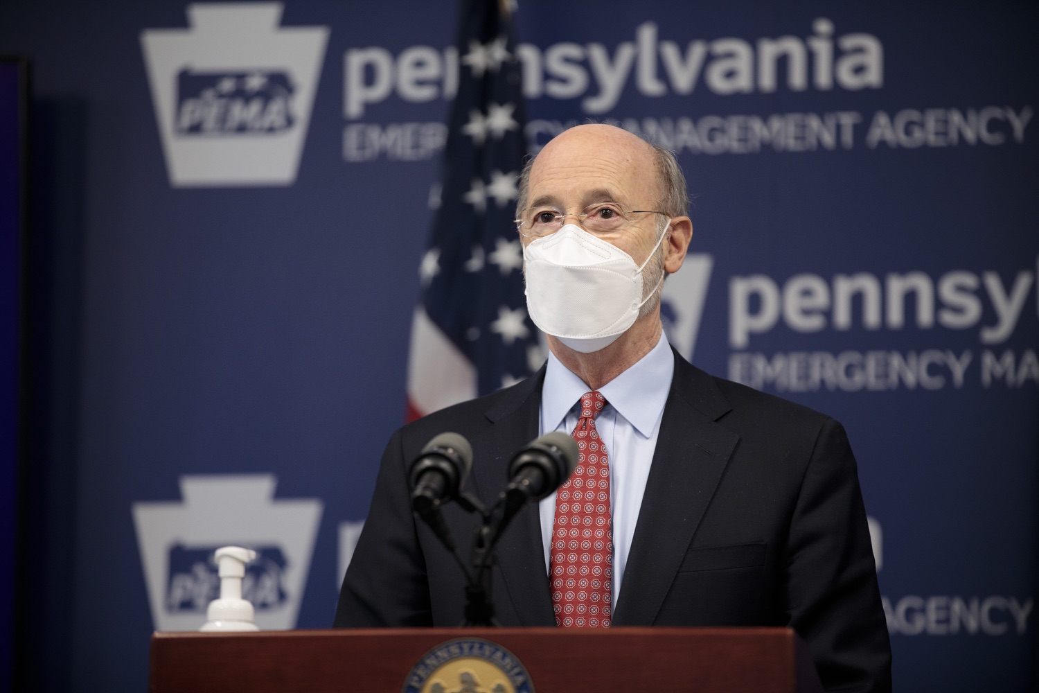 "<a href=""https://filesource.wostreaming.net/commonwealthofpa/photo/18512_gov_education_dz_18.jpg"" target=""_blank"">⇣ Download Photo<br></a>Pennsylvania Governor Tom Wolf answers questions from the press.  Continuing to make the future of Pennsylvanias students a priority, Governor Tom Wolfs 2021 agenda makes a historic $1.3 billion investment in public schools and creates fairness in education funding, while cutting taxes for working families and businesses. Harrisburg, PA  February 4, 2021"