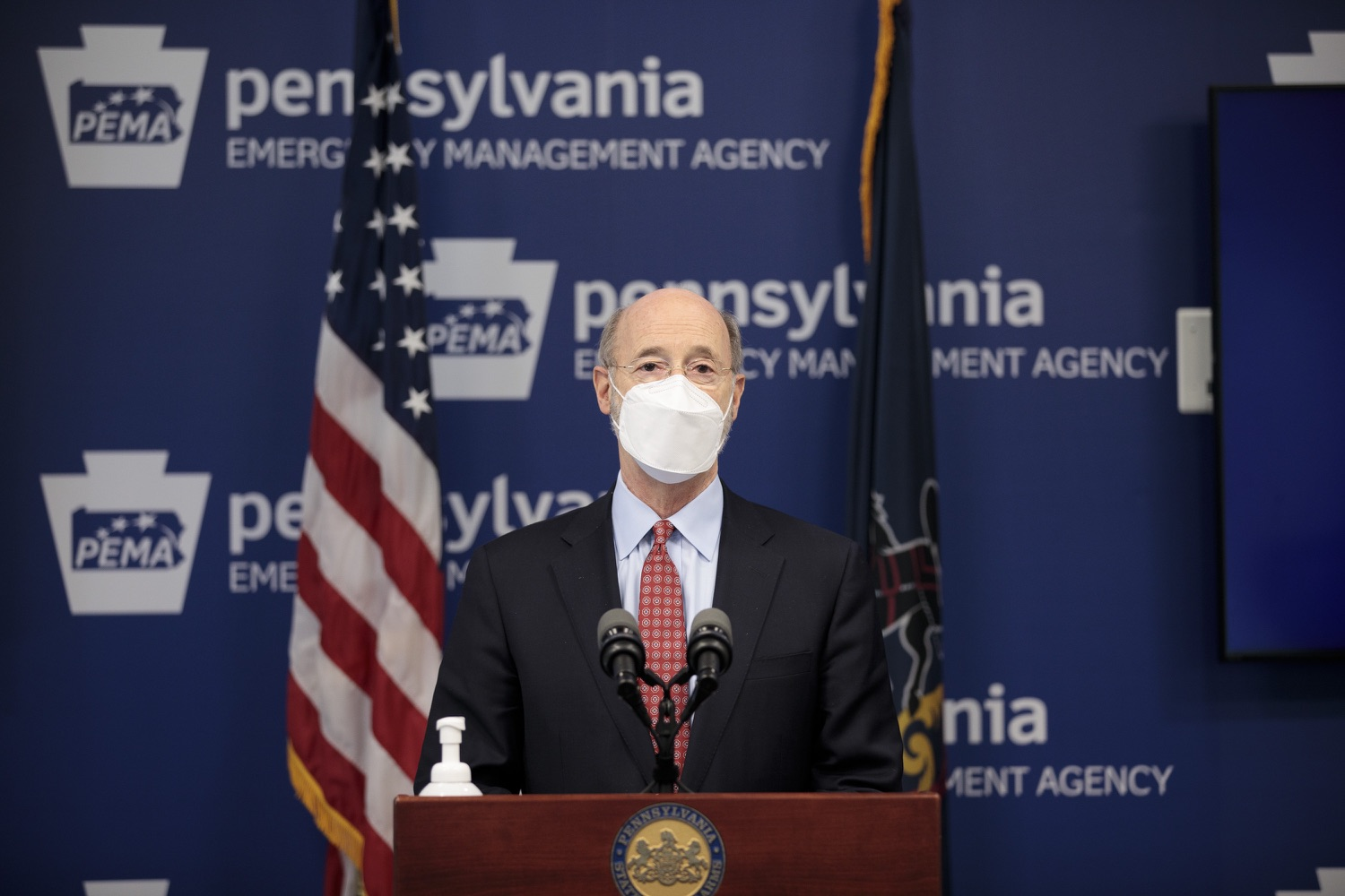 "<a href=""https://filesource.wostreaming.net/commonwealthofpa/photo/18512_gov_education_dz_19.jpg"" target=""_blank"">⇣ Download Photo<br></a>Pennsylvania Governor Tom Wolf answers questions from the press.  Continuing to make the future of Pennsylvanias students a priority, Governor Tom Wolfs 2021 agenda makes a historic $1.3 billion investment in public schools and creates fairness in education funding, while cutting taxes for working families and businesses. Harrisburg, PA  February 4, 2021"