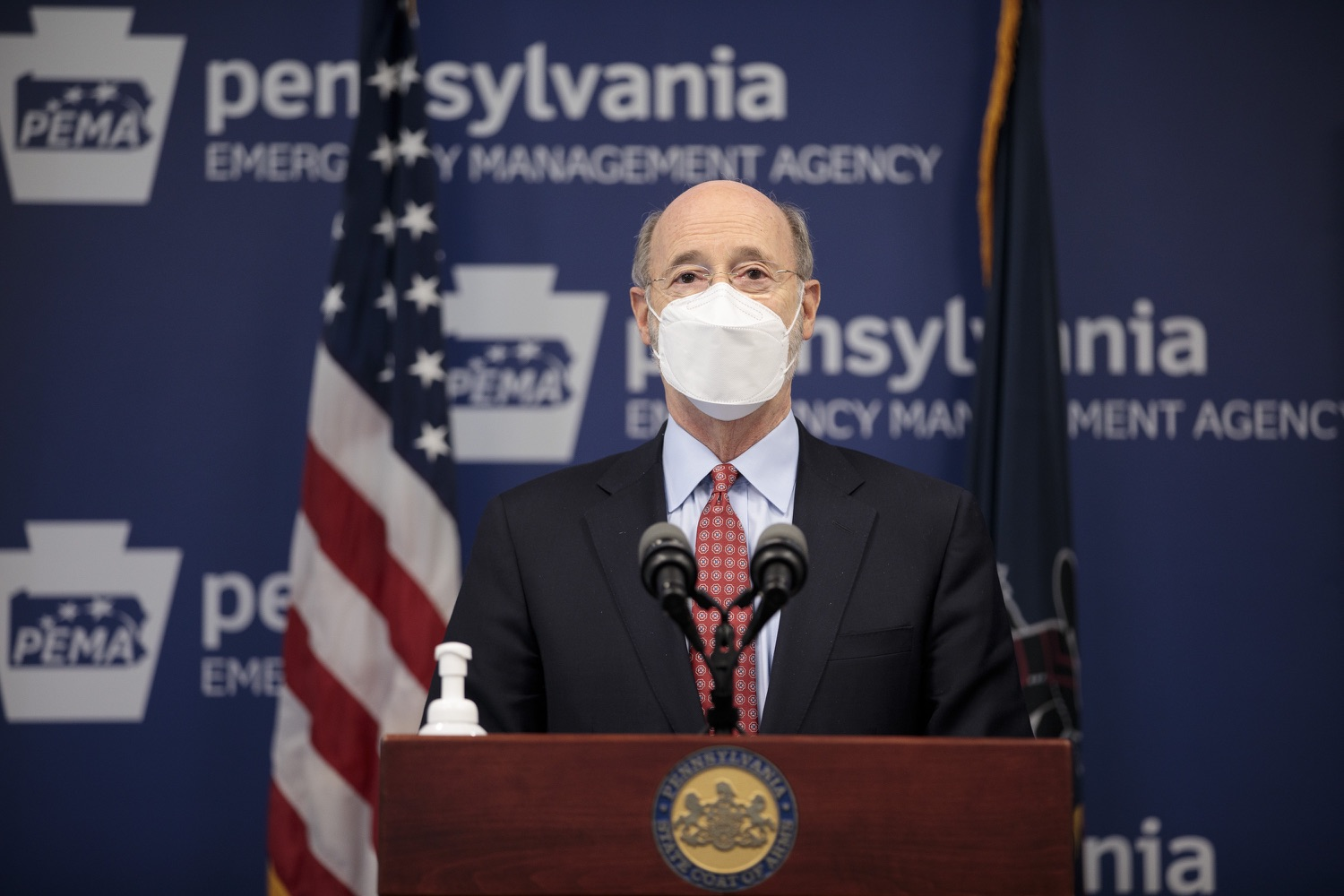"<a href=""https://filesource.wostreaming.net/commonwealthofpa/photo/18512_gov_education_dz_20.jpg"" target=""_blank"">⇣ Download Photo<br></a>Pennsylvania Governor Tom Wolf answers questions from the press.  Continuing to make the future of Pennsylvanias students a priority, Governor Tom Wolfs 2021 agenda makes a historic $1.3 billion investment in public schools and creates fairness in education funding, while cutting taxes for working families and businesses. Harrisburg, PA  February 4, 2021"