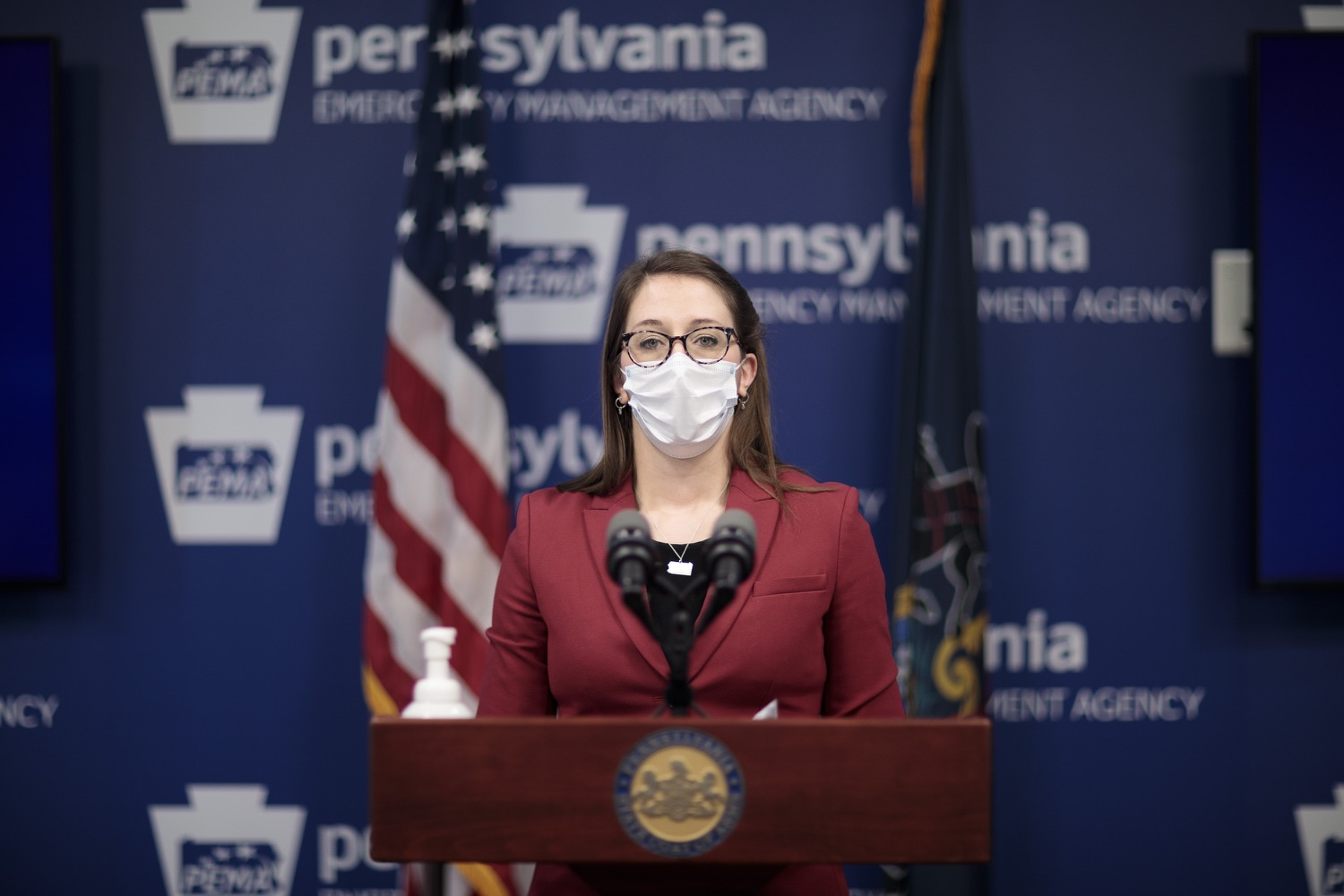 """<a href=""""https://filesource.wostreaming.net/commonwealthofpa/photo/18514_doh_vaccine_dz_01.jpg"""" target=""""_blank"""">⇣Download Photo<br></a>Department of Health Senior Advisor Lindsey Mauldin speaking at the press conference.  The Pennsylvania Department of Health today confirmed as of 12:00 a.m., February 5, there were 4,688 additional positive cases of COVID-19, bringing the statewide total to 861,674. Harrisburg, PA - February 5, 2021"""