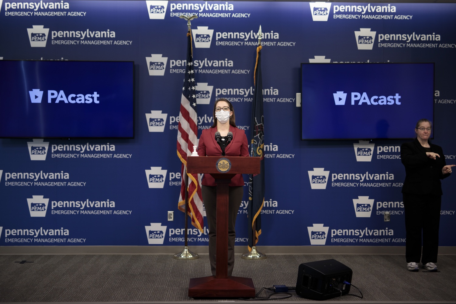 """<a href=""""https://filesource.wostreaming.net/commonwealthofpa/photo/18514_doh_vaccine_dz_05.jpg"""" target=""""_blank"""">⇣Download Photo<br></a>Department of Health Senior Advisor Lindsey Mauldin speaking at the press conference.  The Pennsylvania Department of Health today confirmed as of 12:00 a.m., February 5, there were 4,688 additional positive cases of COVID-19, bringing the statewide total to 861,674. Harrisburg, PA - February 5, 2021"""