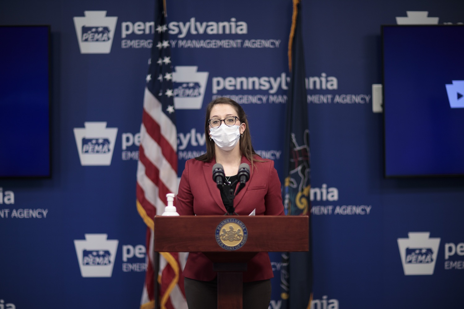 """<a href=""""https://filesource.wostreaming.net/commonwealthofpa/photo/18514_doh_vaccine_dz_11.jpg"""" target=""""_blank"""">⇣Download Photo<br></a>Department of Health Senior Advisor Lindsey Mauldin speaking at the press conference.  The Pennsylvania Department of Health today confirmed as of 12:00 a.m., February 5, there were 4,688 additional positive cases of COVID-19, bringing the statewide total to 861,674. Harrisburg, PA - February 5, 2021"""