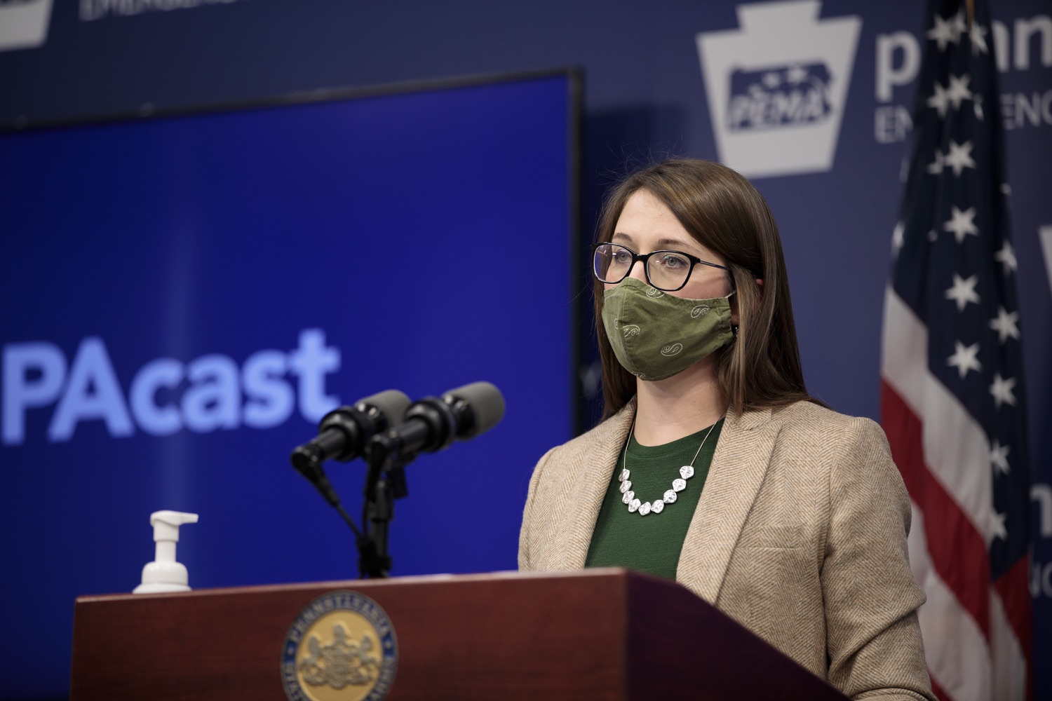 """<a href=""""https://filesource.wostreaming.net/commonwealthofpa/photo/18524_doh_vaccine_dz_01.JPG"""" target=""""_blank"""">⇣Download Photo<br></a>Department of Health Senior Advisor Lindsey Mauldin speaking at the press conference.  The Pennsylvania Department of Health today launched a new tool called Your Turn to help Pennsylvanians understand where they fall in the vaccine prioritization effort and to be alerted when it is their turn to schedule an appointment for the COVID-19 vaccine.  Harrisburg, PA  February 9, 2021"""