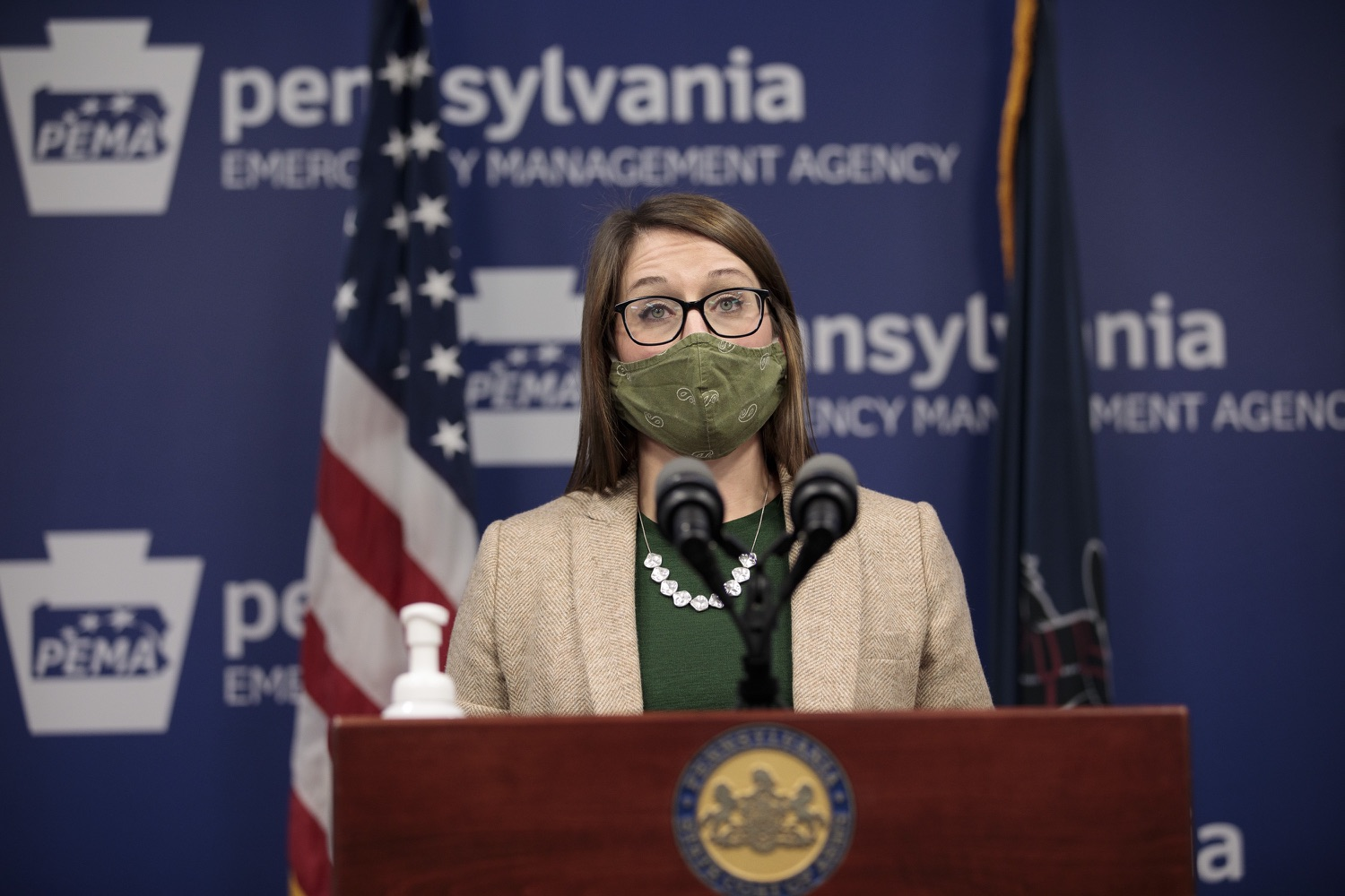"""<a href=""""https://filesource.wostreaming.net/commonwealthofpa/photo/18524_doh_vaccine_dz_02.JPG"""" target=""""_blank"""">⇣Download Photo<br></a>Department of Health Senior Advisor Lindsey Mauldin speaking at the press conference.  The Pennsylvania Department of Health today launched a new tool called Your Turn to help Pennsylvanians understand where they fall in the vaccine prioritization effort and to be alerted when it is their turn to schedule an appointment for the COVID-19 vaccine.  Harrisburg, PA  February 9, 2021"""
