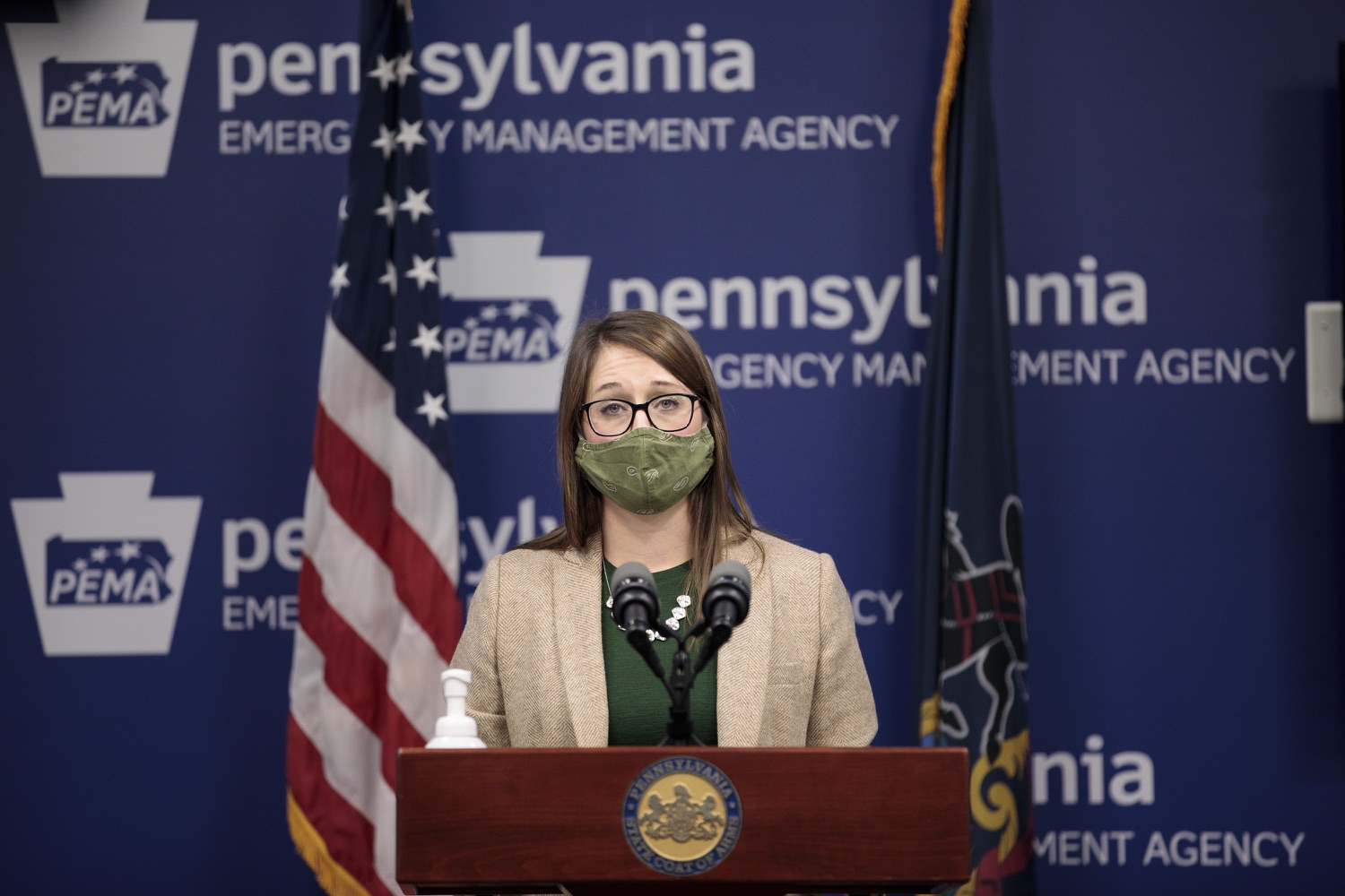 """<a href=""""https://filesource.wostreaming.net/commonwealthofpa/photo/18524_doh_vaccine_dz_05.JPG"""" target=""""_blank"""">⇣Download Photo<br></a>Department of Health Senior Advisor Lindsey Mauldin speaking at the press conference.  The Pennsylvania Department of Health today launched a new tool called Your Turn to help Pennsylvanians understand where they fall in the vaccine prioritization effort and to be alerted when it is their turn to schedule an appointment for the COVID-19 vaccine.  Harrisburg, PA  February 9, 2021"""