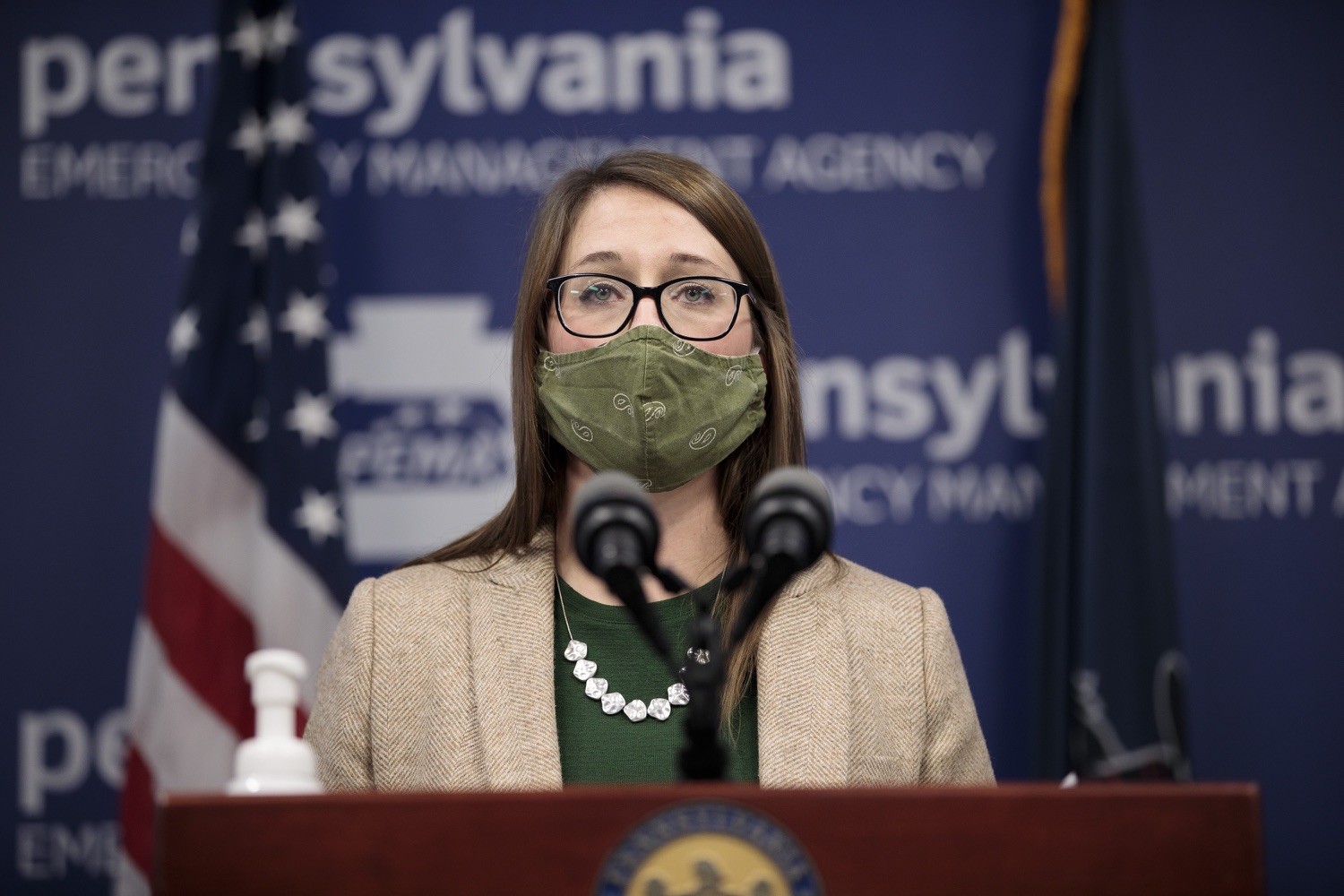 """<a href=""""https://filesource.wostreaming.net/commonwealthofpa/photo/18524_doh_vaccine_dz_06.JPG"""" target=""""_blank"""">⇣Download Photo<br></a>Department of Health Senior Advisor Lindsey Mauldin speaking at the press conference.  The Pennsylvania Department of Health today launched a new tool called Your Turn to help Pennsylvanians understand where they fall in the vaccine prioritization effort and to be alerted when it is their turn to schedule an appointment for the COVID-19 vaccine.  Harrisburg, PA  February 9, 2021"""