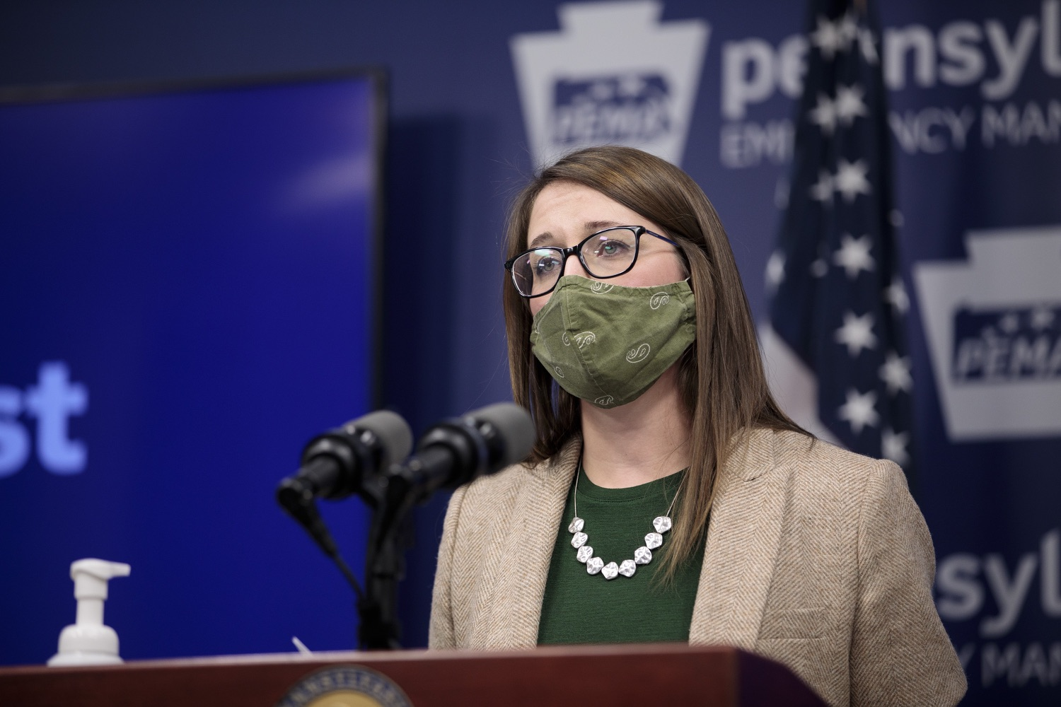 """<a href=""""https://filesource.wostreaming.net/commonwealthofpa/photo/18524_doh_vaccine_dz_11.JPG"""" target=""""_blank"""">⇣Download Photo<br></a>Department of Health Senior Advisor Lindsey Mauldin speaking at the press conference.  The Pennsylvania Department of Health today launched a new tool called Your Turn to help Pennsylvanians understand where they fall in the vaccine prioritization effort and to be alerted when it is their turn to schedule an appointment for the COVID-19 vaccine.  Harrisburg, PA  February 9, 2021"""