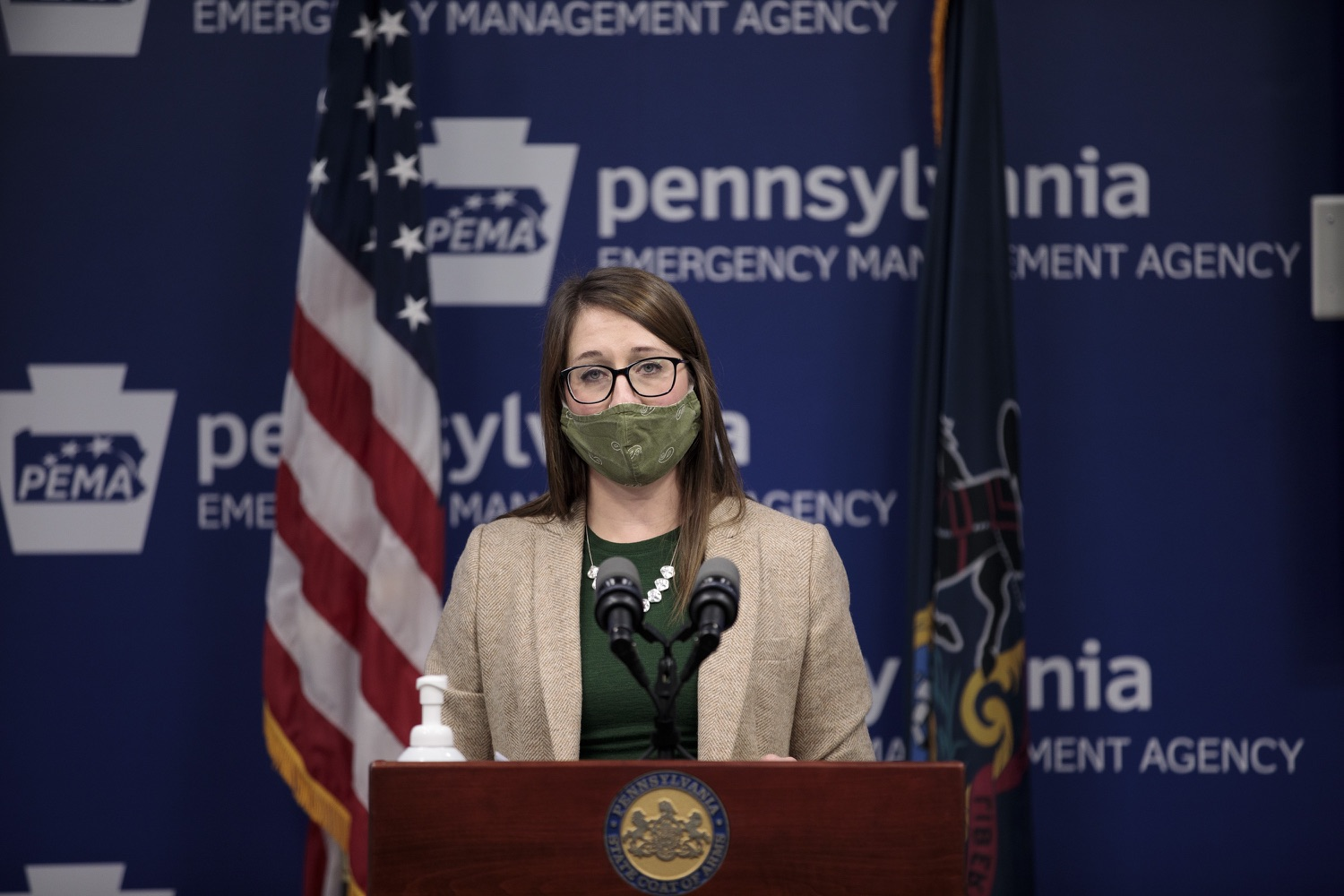 """<a href=""""https://filesource.wostreaming.net/commonwealthofpa/photo/18524_doh_vaccine_dz_13.JPG"""" target=""""_blank"""">⇣Download Photo<br></a>Department of Health Senior Advisor Lindsey Mauldin speaking at the press conference.  The Pennsylvania Department of Health today launched a new tool called Your Turn to help Pennsylvanians understand where they fall in the vaccine prioritization effort and to be alerted when it is their turn to schedule an appointment for the COVID-19 vaccine.  Harrisburg, PA  February 9, 2021"""