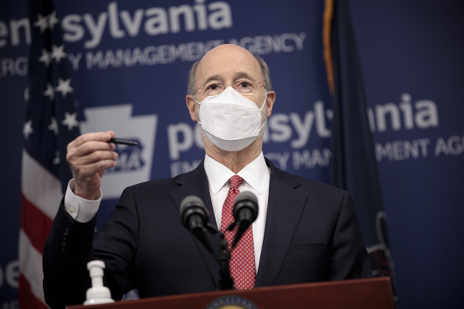 """<a href=""""https://filesource.wostreaming.net/commonwealthofpa/photo/18528_gov_vaccines_dz_10.jpg"""" target=""""_blank"""">⇣Download Photo<br></a>Pennsylvania Governor Tom Wolf speaking at the press conference.  As the state continues to get vaccine to Phase 1A eligible Pennsylvanians, today Governor Tom Wolf and Secretary of Aging Robert Torres highlighted some of the community-based solutions that are working to help Pennsylvanians 65-plus access the COVID- 19 vaccine.  FEBRUARY 11, 2021 - HARRISBURG, PA"""
