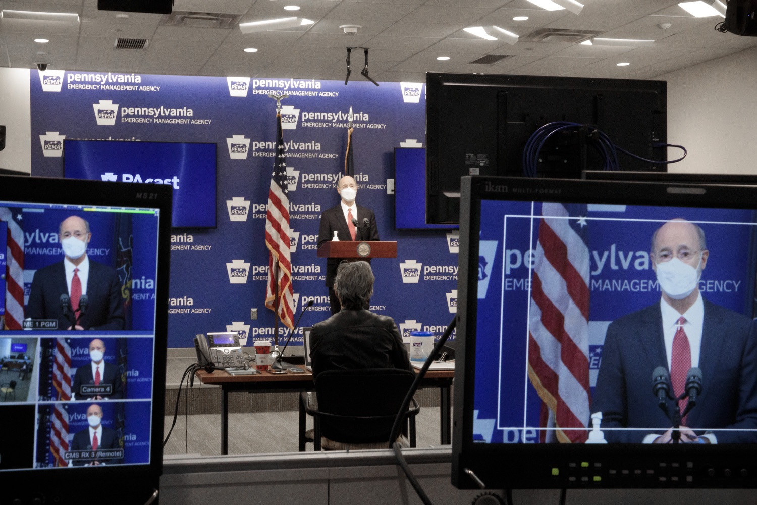 """<a href=""""https://filesource.wostreaming.net/commonwealthofpa/photo/18528_gov_vaccines_dz_15.jpg"""" target=""""_blank"""">⇣Download Photo<br></a>Pennsylvania Governor Tom Wolf speaking at the press conference.  As the state continues to get vaccine to Phase 1A eligible Pennsylvanians, today Governor Tom Wolf and Secretary of Aging Robert Torres highlighted some of the community-based solutions that are working to help Pennsylvanians 65-plus access the COVID- 19 vaccine.  FEBRUARY 11, 2021 - HARRISBURG, PA"""