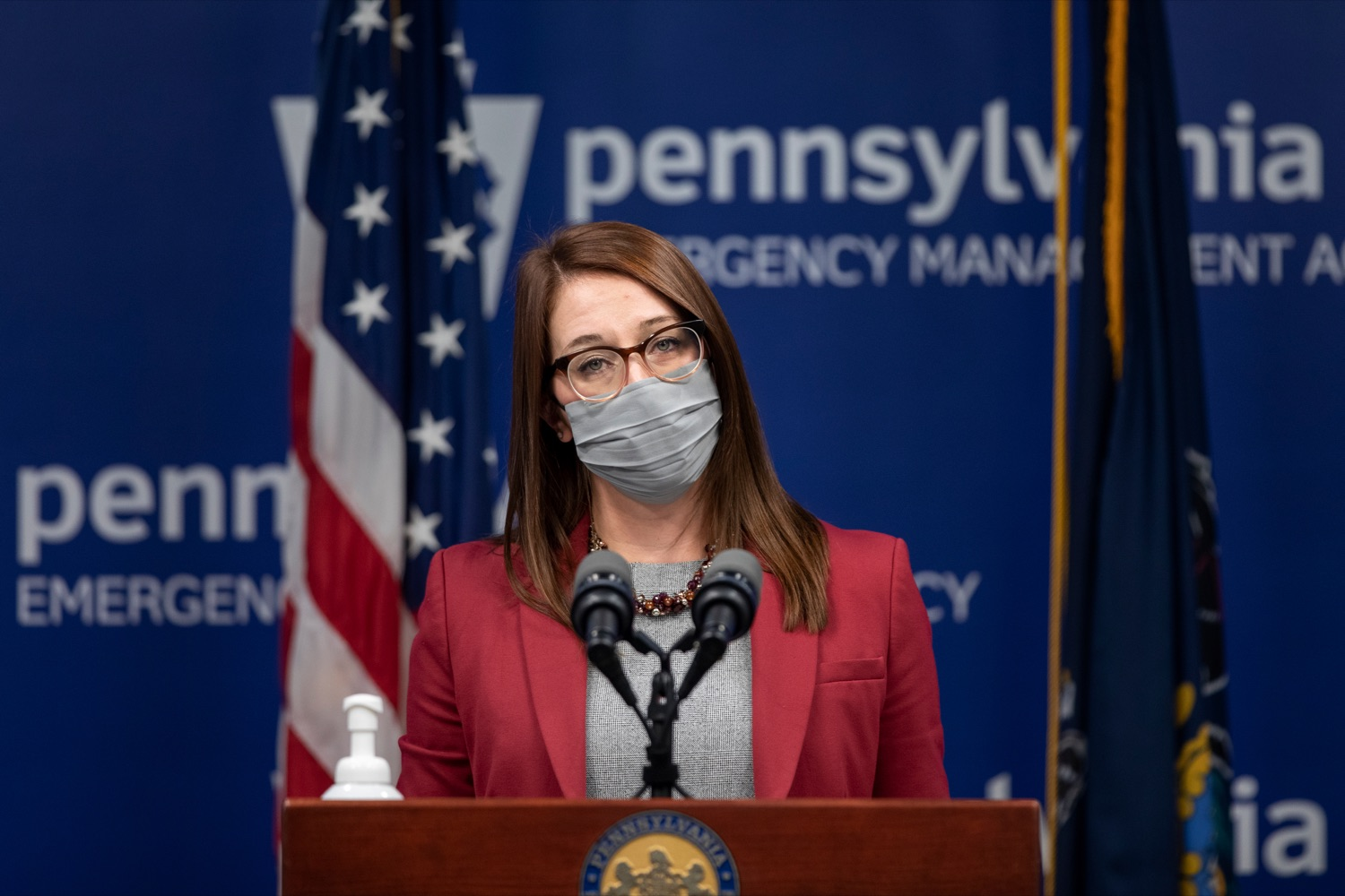 "<a href=""https://filesource.wostreaming.net/commonwealthofpa/photo/18533_DOH_Vaccine_NK_003.jpg"" target=""_blank"">⇣ Download Photo<br></a>Department of Health Senior Advisor Lindsey Mauldin speaks during a virtual press conference inside Pennsylvania Emergency Management Agency in Harrisburg on Friday, February 12, 2021."