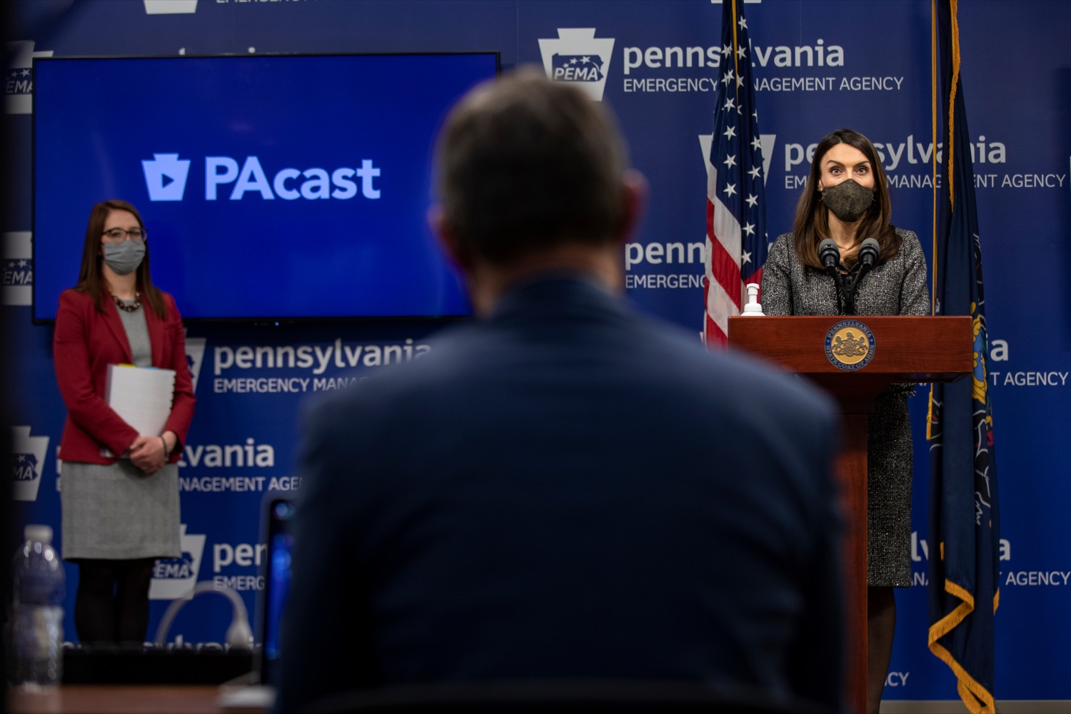 "<a href=""https://filesource.wostreaming.net/commonwealthofpa/photo/18533_DOH_Vaccine_NK_005.jpg"" target=""_blank"">⇣ Download Photo<br></a>Pennsylvania Acting Secretary of Health Alison Beam speaks during a virtual press conference inside Pennsylvania Emergency Management Agency in Harrisburg on Friday, February 12, 2021."