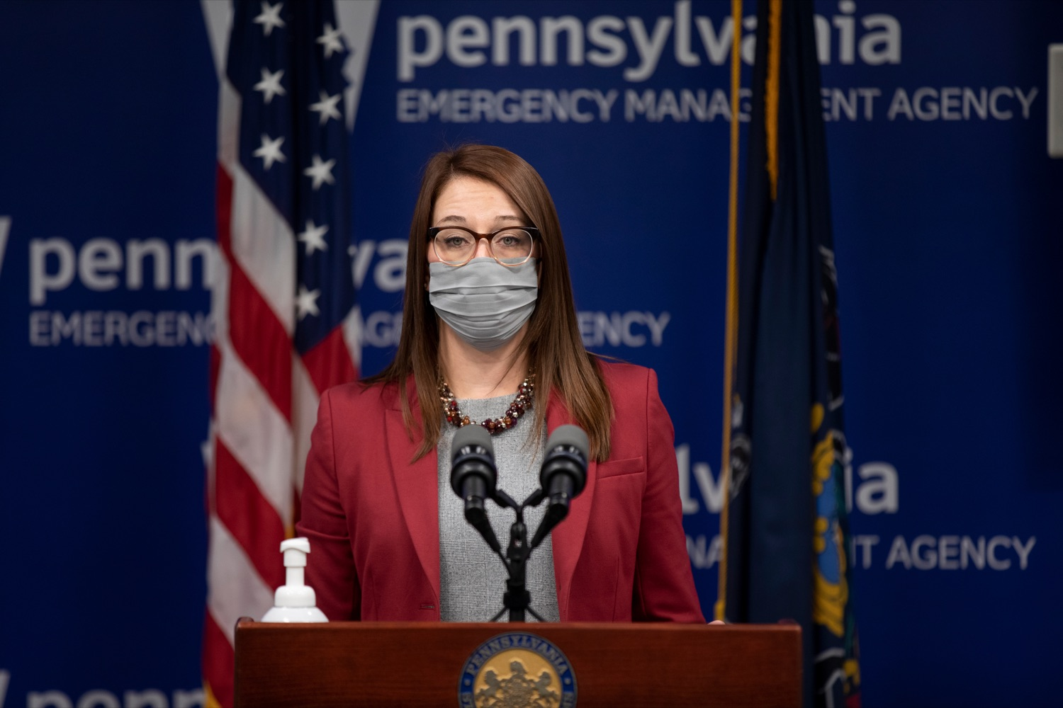 "<a href=""https://filesource.wostreaming.net/commonwealthofpa/photo/18533_DOH_Vaccine_NK_006.jpg"" target=""_blank"">⇣ Download Photo<br></a>Department of Health Senior Advisor Lindsey Mauldin speaks during a virtual press conference inside Pennsylvania Emergency Management Agency in Harrisburg on Friday, February 12, 2021."
