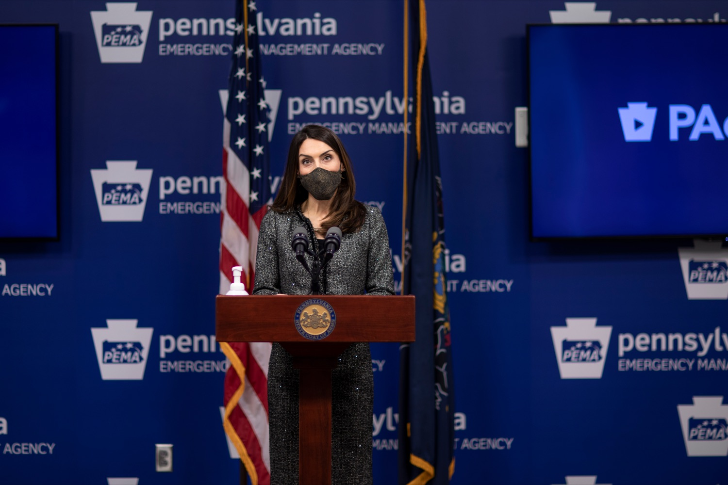 "<a href=""https://filesource.wostreaming.net/commonwealthofpa/photo/18533_DOH_Vaccine_NK_009.jpg"" target=""_blank"">⇣ Download Photo<br></a>Pennsylvania Acting Secretary of Health Alison Beam speaks during a virtual press conference inside Pennsylvania Emergency Management Agency in Harrisburg on Friday, February 12, 2021."
