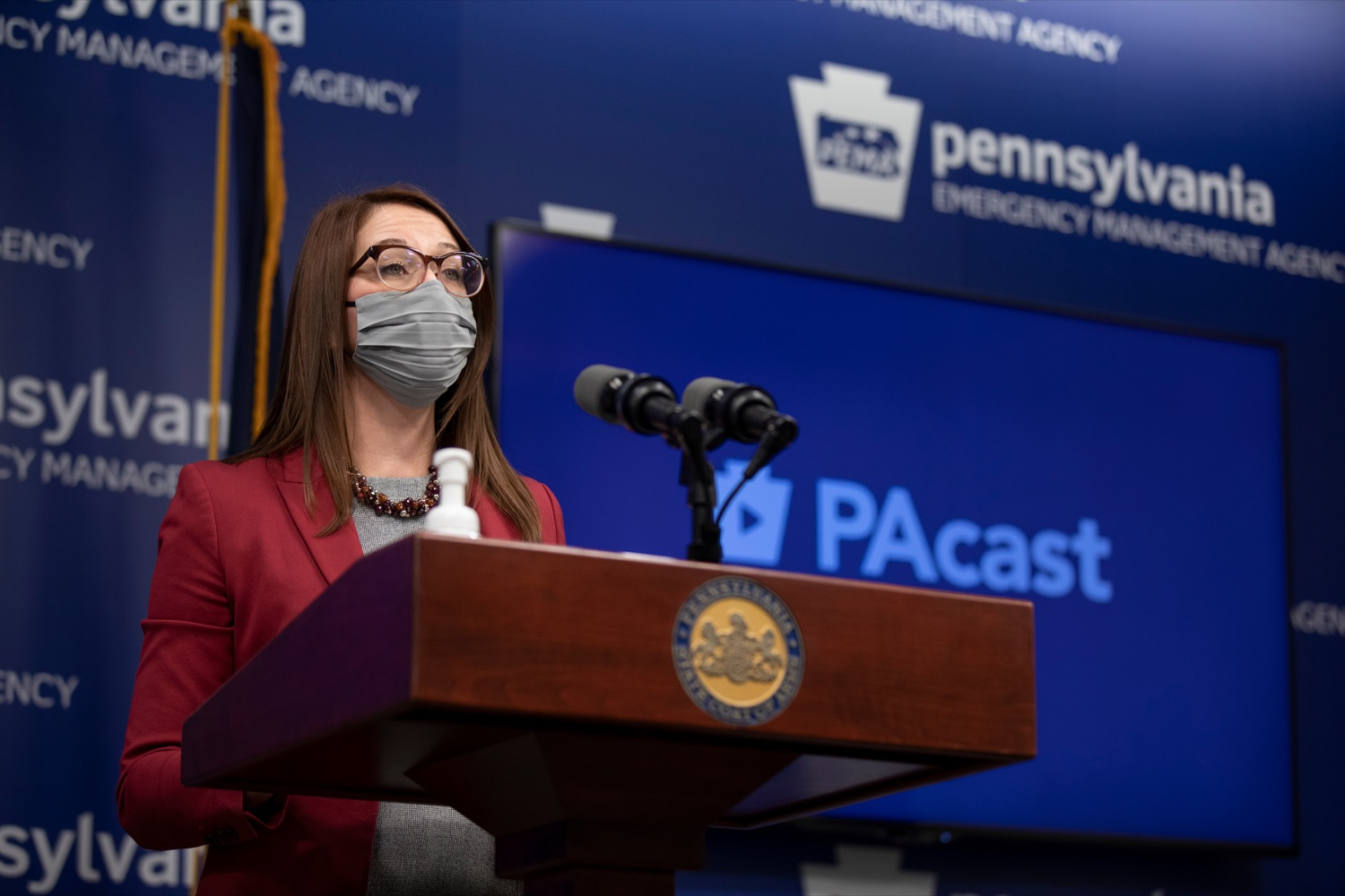"<a href=""https://filesource.wostreaming.net/commonwealthofpa/photo/18533_DOH_Vaccine_NK_011.jpg"" target=""_blank"">⇣ Download Photo<br></a>Department of Health Senior Advisor Lindsey Mauldin speaks during a virtual press conference inside Pennsylvania Emergency Management Agency in Harrisburg on Friday, February 12, 2021."