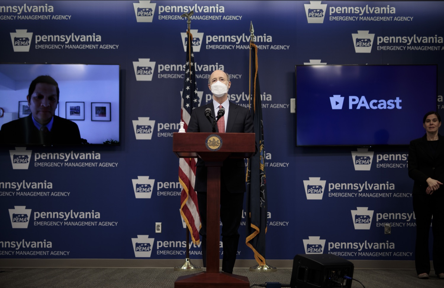 "<a href=""https://filesource.wostreaming.net/commonwealthofpa/photo/18535_gov_nellie_bly_dz_03.jpg"" target=""_blank"">⇣ Download Photo<br></a>Pennsylvania Governor Tom Wolf speaking at the press conference.  Governor Tom Wolf wants to bet on 44,000 students to help them earn a college degree while graduating with less debt and building successful lives in Pennsylvania. Today, the governor held a press conference to discuss how his historic Nellie Bly Scholarship Program would provide need-based financial assistance for students at 14 universities in the states system. Harrisburg, PA  February 17, 2021"