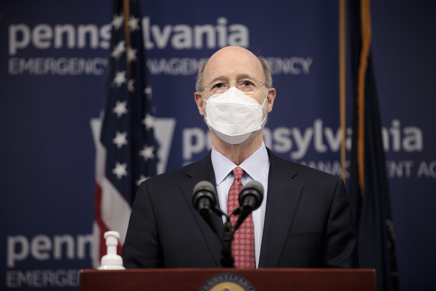 "<a href=""https://filesource.wostreaming.net/commonwealthofpa/photo/18535_gov_nellie_bly_dz_04.jpg"" target=""_blank"">⇣ Download Photo<br></a>Pennsylvania Governor Tom Wolf speaking at the press conference.  Governor Tom Wolf wants to bet on 44,000 students to help them earn a college degree while graduating with less debt and building successful lives in Pennsylvania. Today, the governor held a press conference to discuss how his historic Nellie Bly Scholarship Program would provide need-based financial assistance for students at 14 universities in the states system. Harrisburg, PA  February 17, 2021"